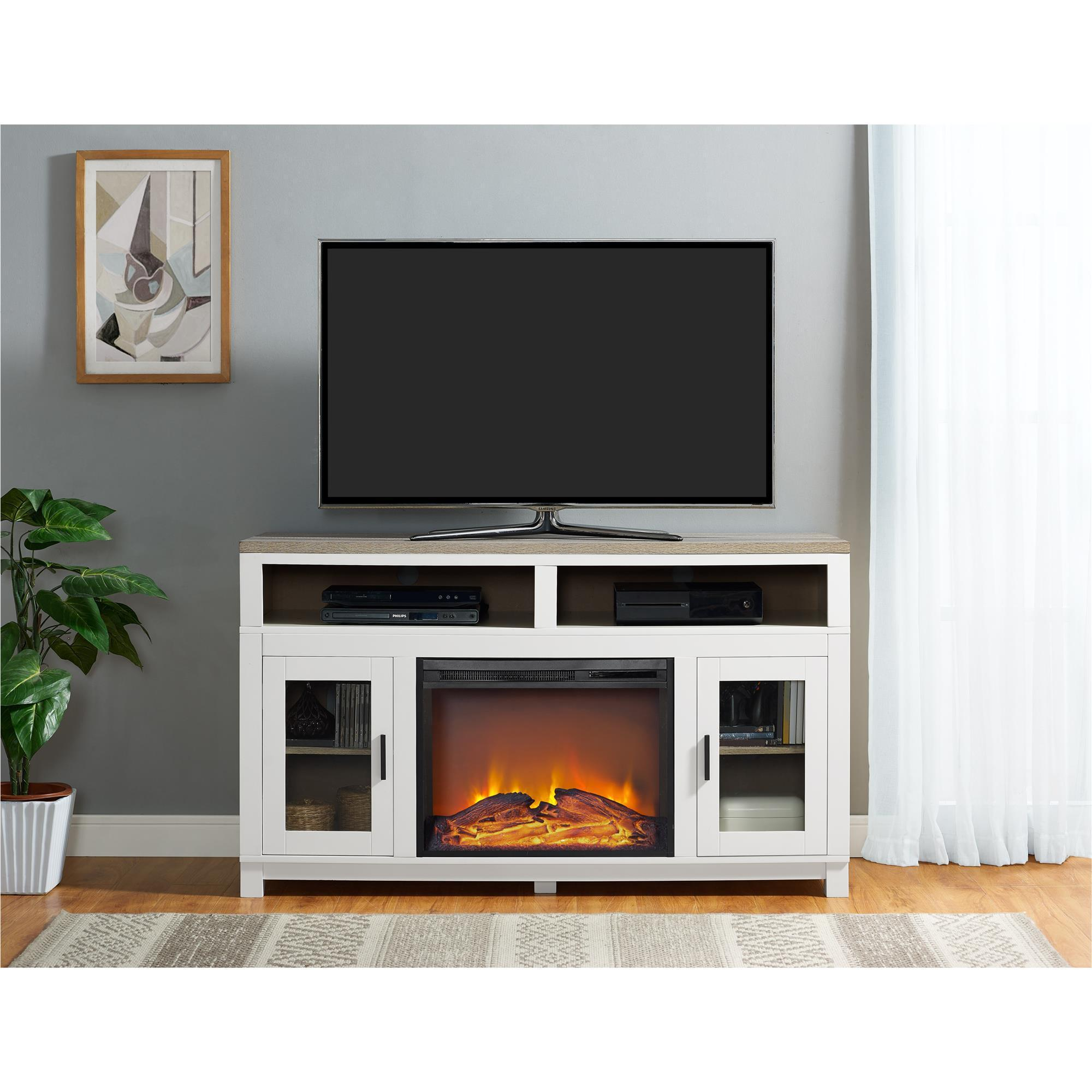 talking electric design home concept plasma cheap image a by place loft fireplace tv book of stand with