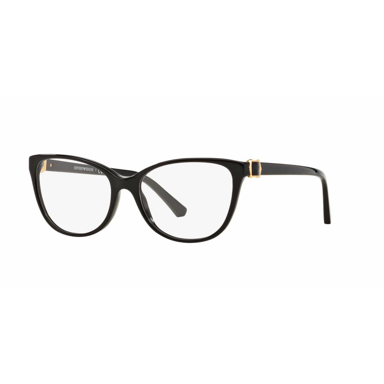 f4638d890da Shop Emporio Armani Womens EA3077 5017 Black Plastic Cat Eye Eyeglasses -  Free Shipping Today - Overstock - 13805477