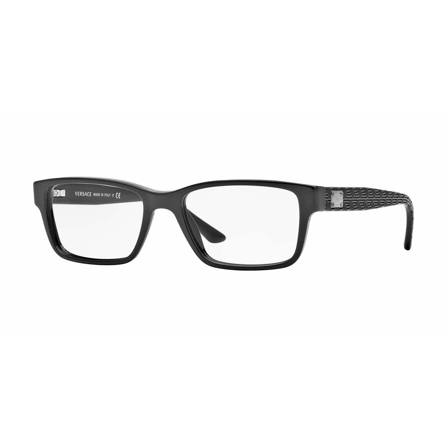 e7ae7ecf63 Shop versace mens ve black plastic rectangle eyeglasses free shipping today  jpg 1500x1500 Versace mens glasses