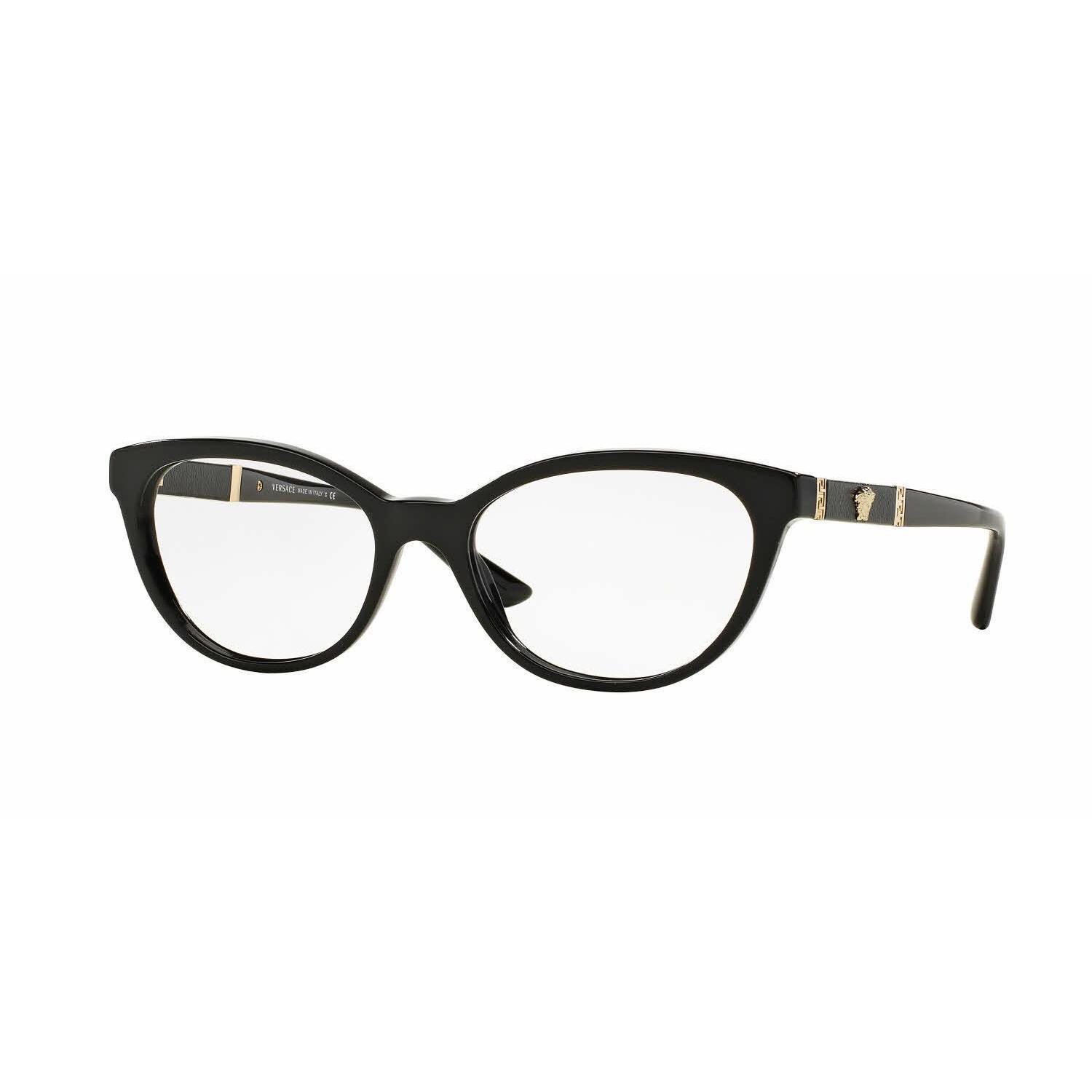 4d503513bac Shop Versace Womens VE3219Q GB1 Black Plastic Oval Eyeglasses - Free  Shipping Today - Overstock - 13805596