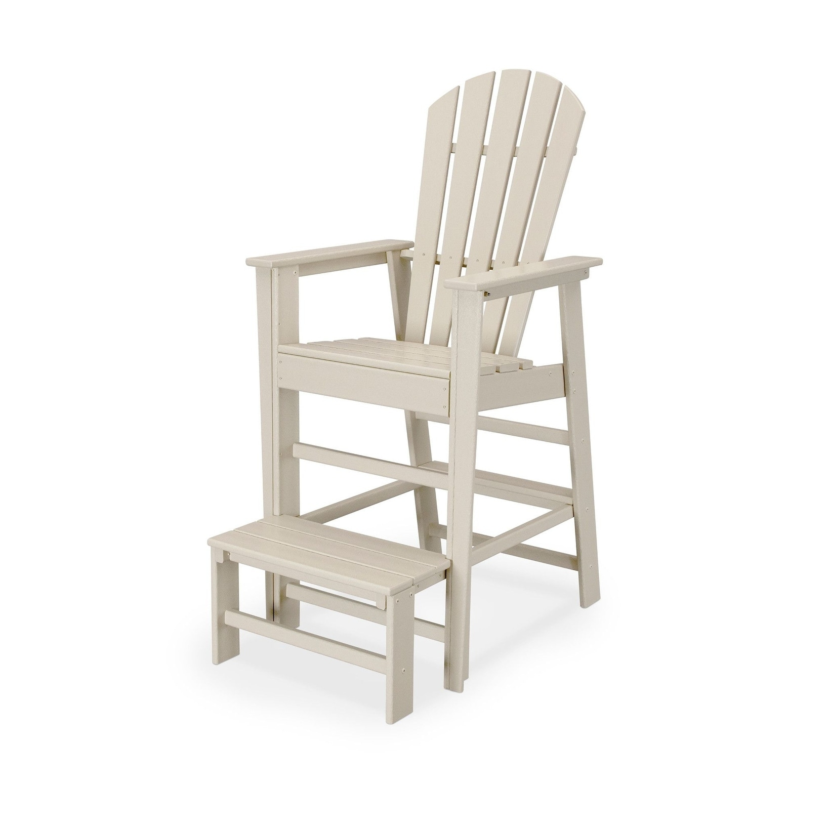 0354d4039141 Shop POLYWOOD South Beach Outdoor Lifeguard Chair with Extended Foot Step -  Free Shipping Today - Overstock - 13806903