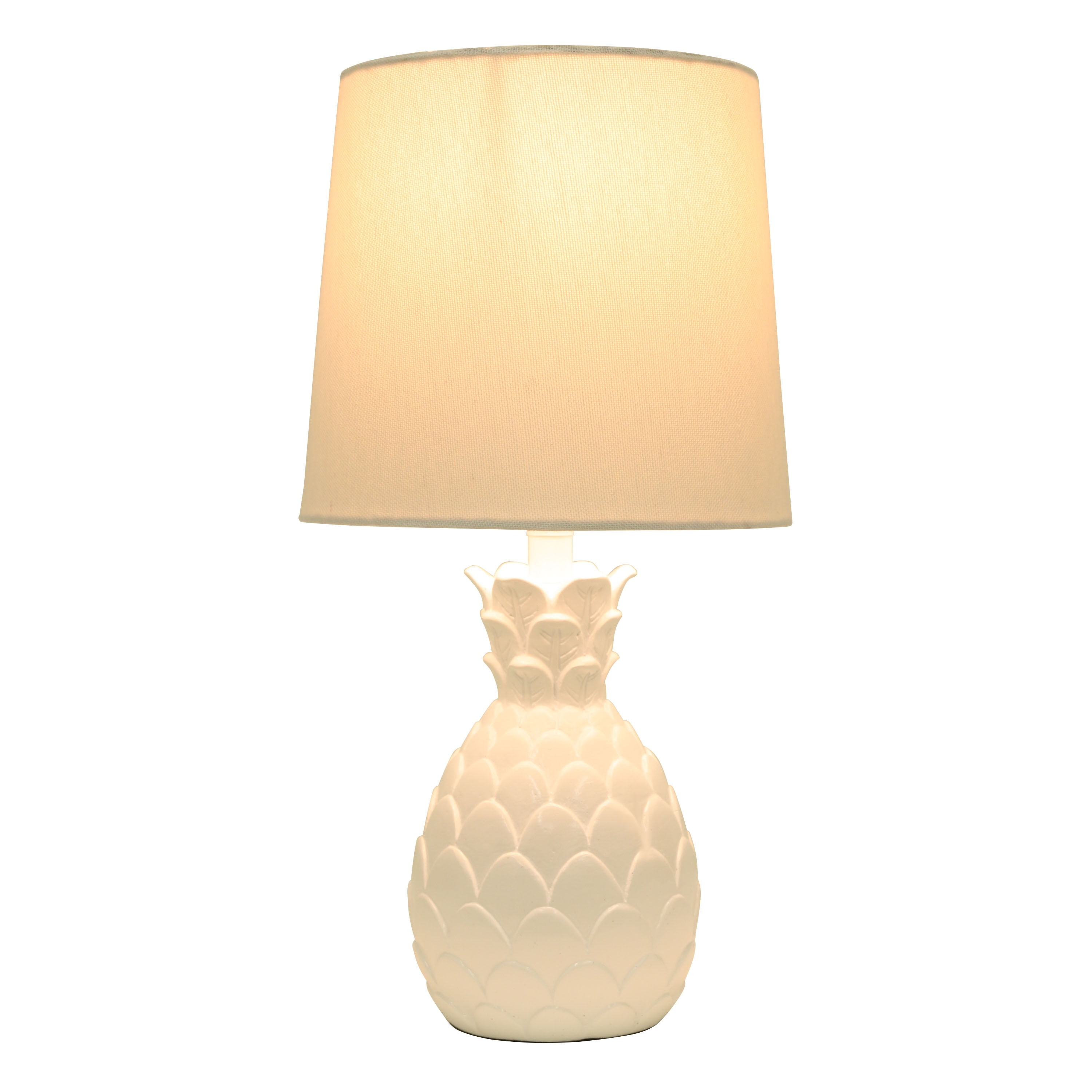 shade lamp and hicks table pineapple initial with