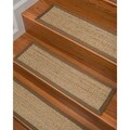 "Handcrafted Half Panama Seagrass Carpet Stair Treads - Malt  (Set of 13) - 13PC (9"" x 29"")"