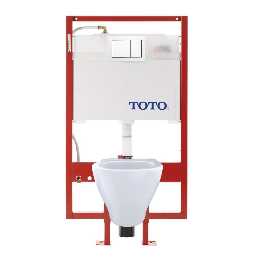 Shop Toto Aquia Wall-Hung Elongated Toilet and DuoFit in-wall 0.9 ...