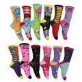 Frenchic Women's Fun and Designful Cotton, Polyester Crew Socks (Pack of 12 pairs)