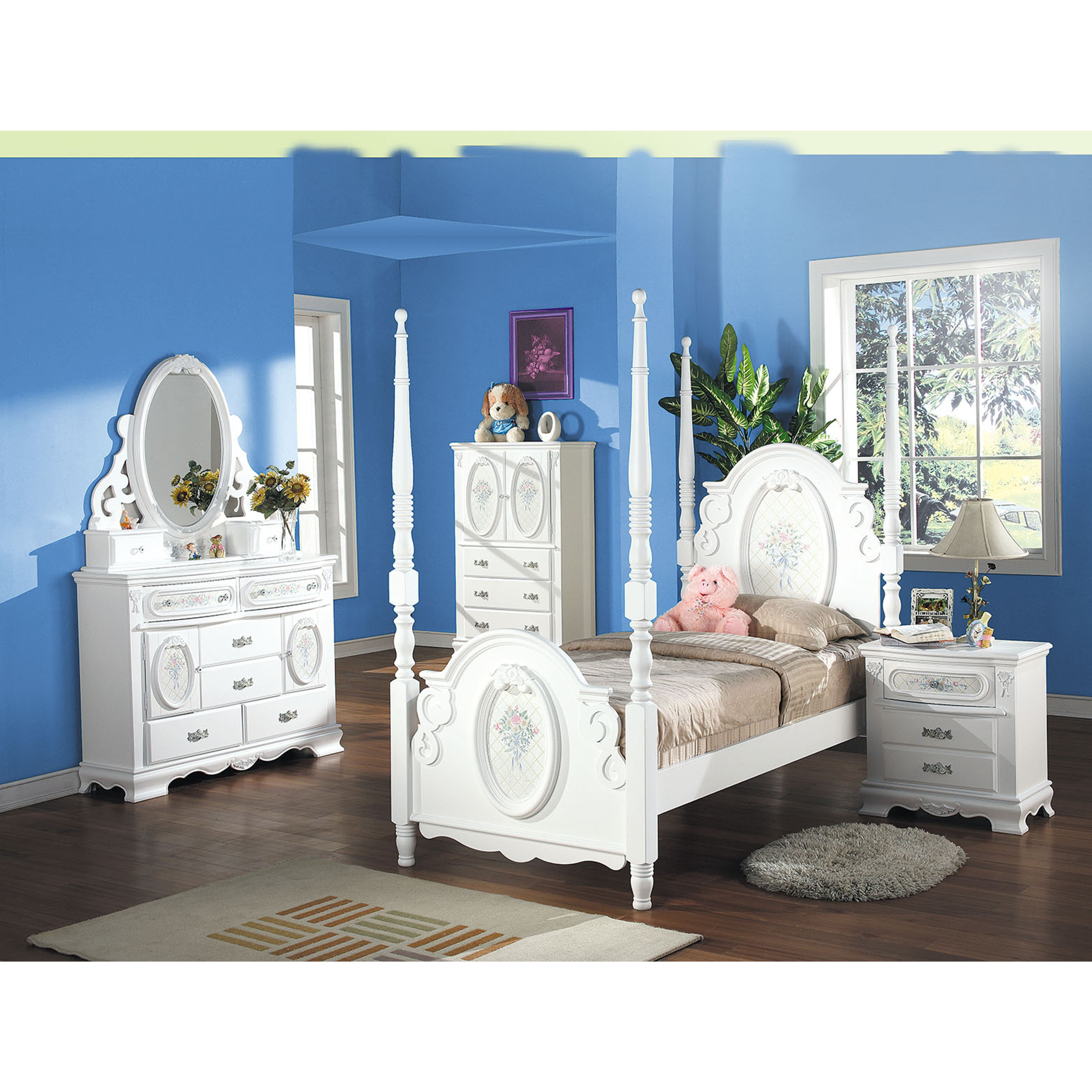 Acme Furniture Flora White Wood TV Armoire With Hanging Rod   Free Shipping  Today   Overstock.com   20465081
