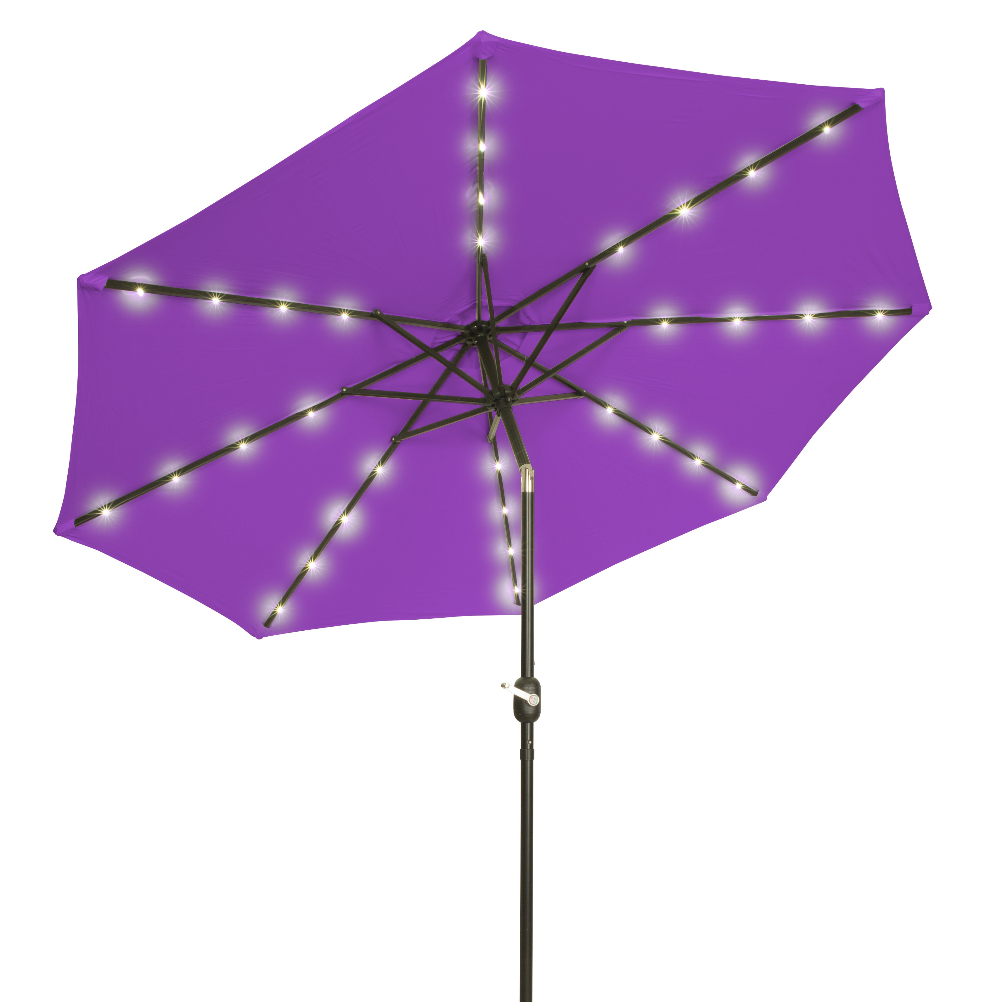 Trademark Innovations Purple Polyester And Steel 9 Foot Deluxe  Solar Powered LED LLighted Patio Umbrella   Free Shipping Today   Overstock    20465121