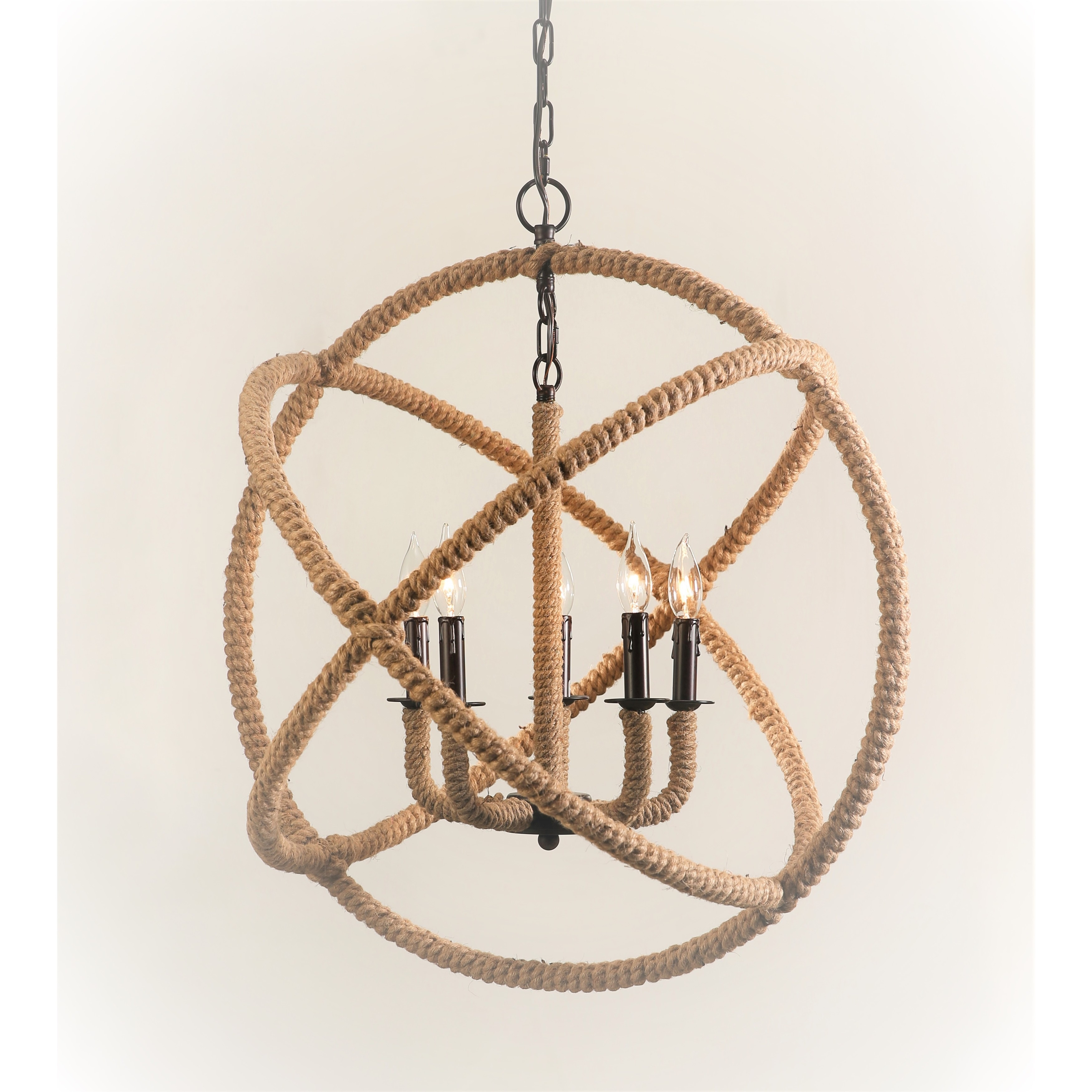Abbyson Tuscan 5 light Rope enclosed Chandelier Free Shipping