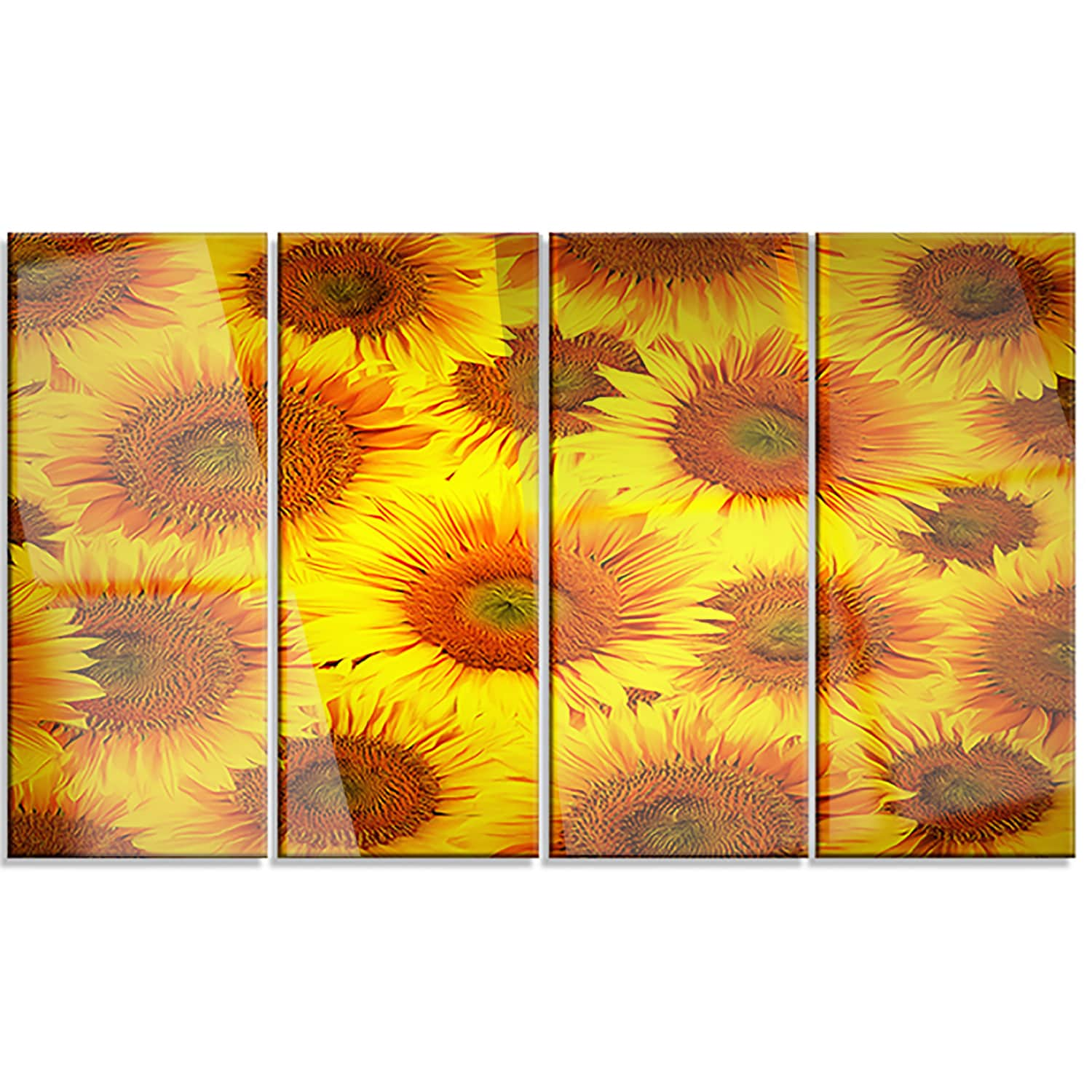 Shop Designart \'Sunflower Heads Decorative Background\' Contemporary ...