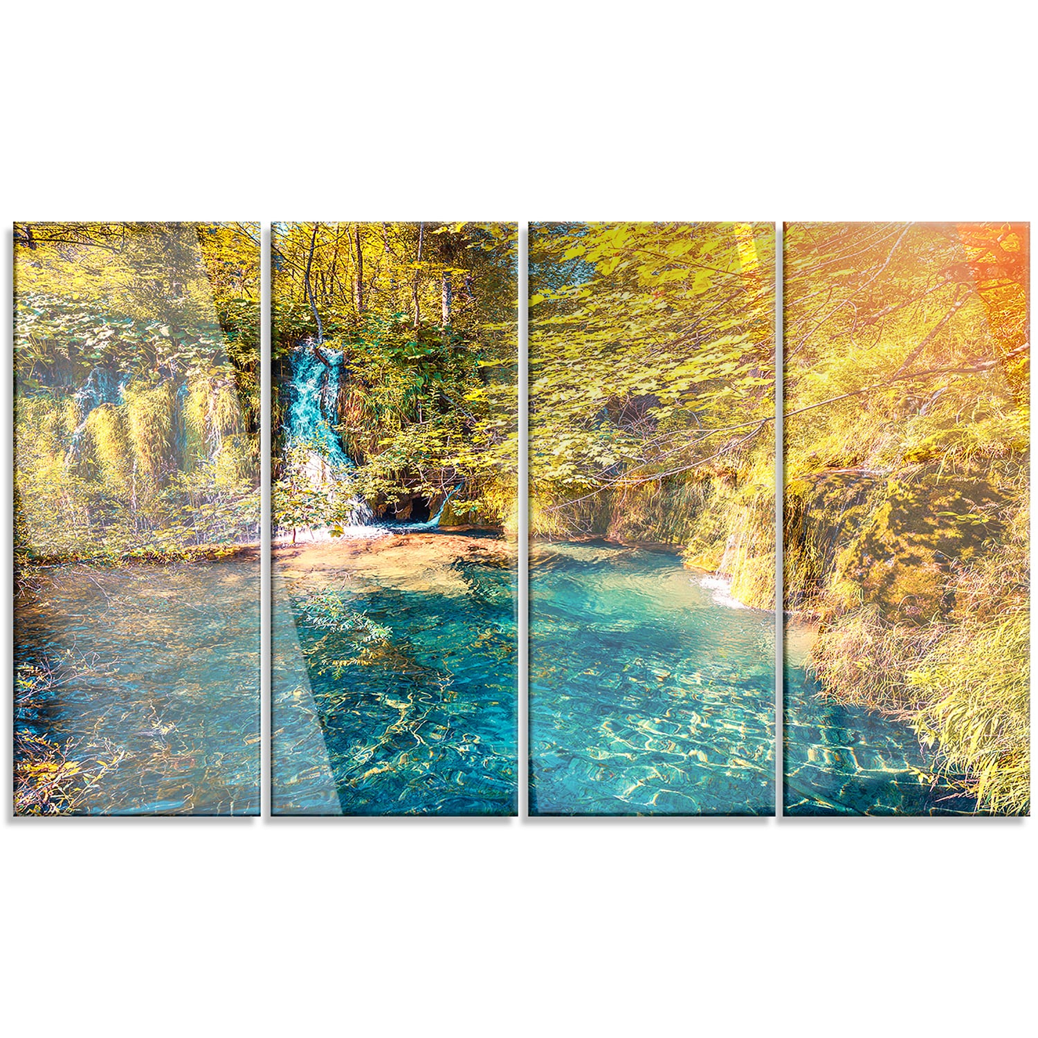 Designart \'Plitvice Lakes National Park\' Large Landscape Art Metal ...