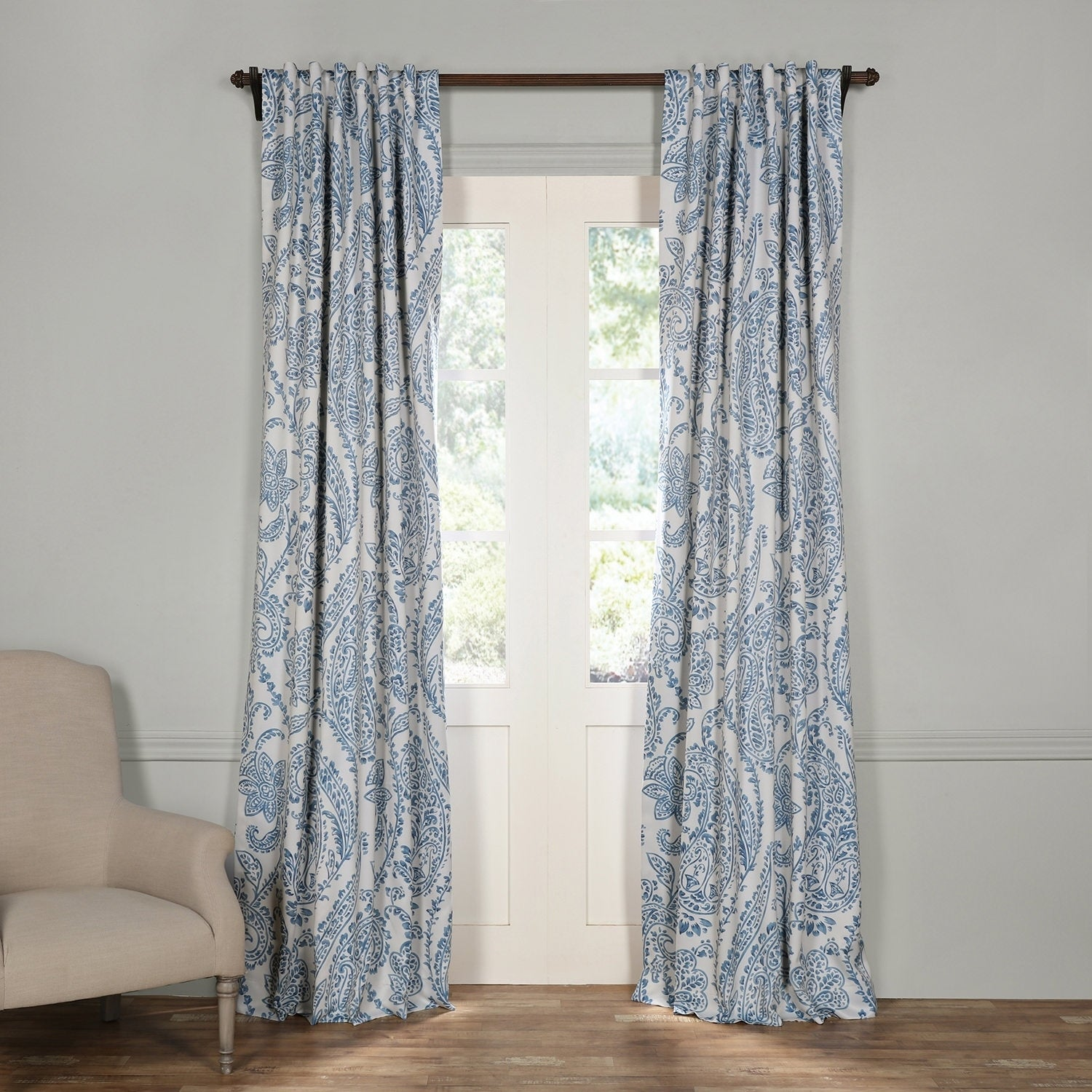 Exclusive Fabrics Tea Time China Blue Blackout Curtain Panel Pair On Free Shipping Today 13827678