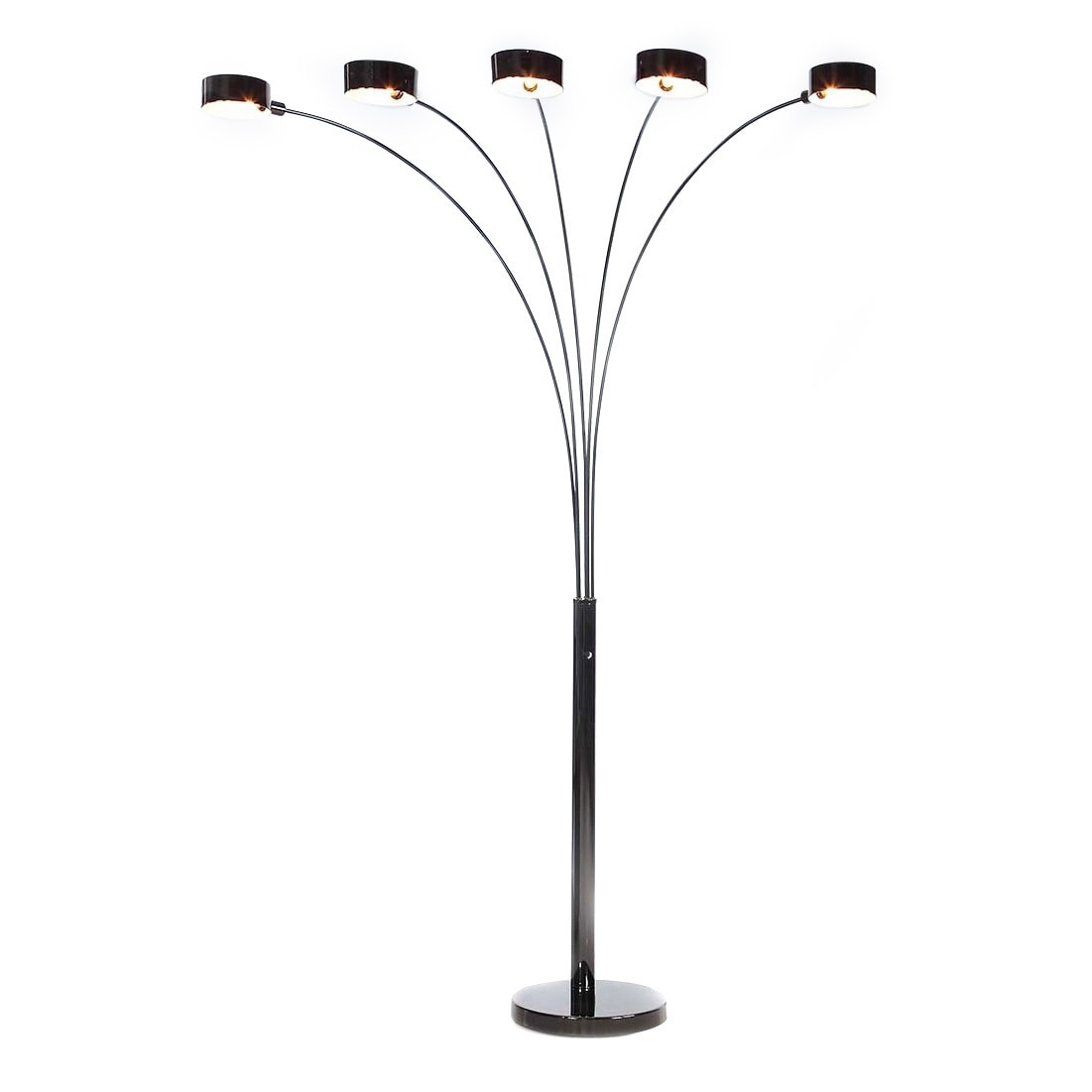 Shop artiva usa micah plus modern led 88 inch 5 arched jet black shop artiva usa micah plus modern led 88 inch 5 arched jet black floor lamp with dimmer free shipping today overstock 13828179 aloadofball Image collections