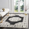 Safavieh Indoor/ Outdoor Cottage Black/ Cream Rug (3' 3 x 5' 3)