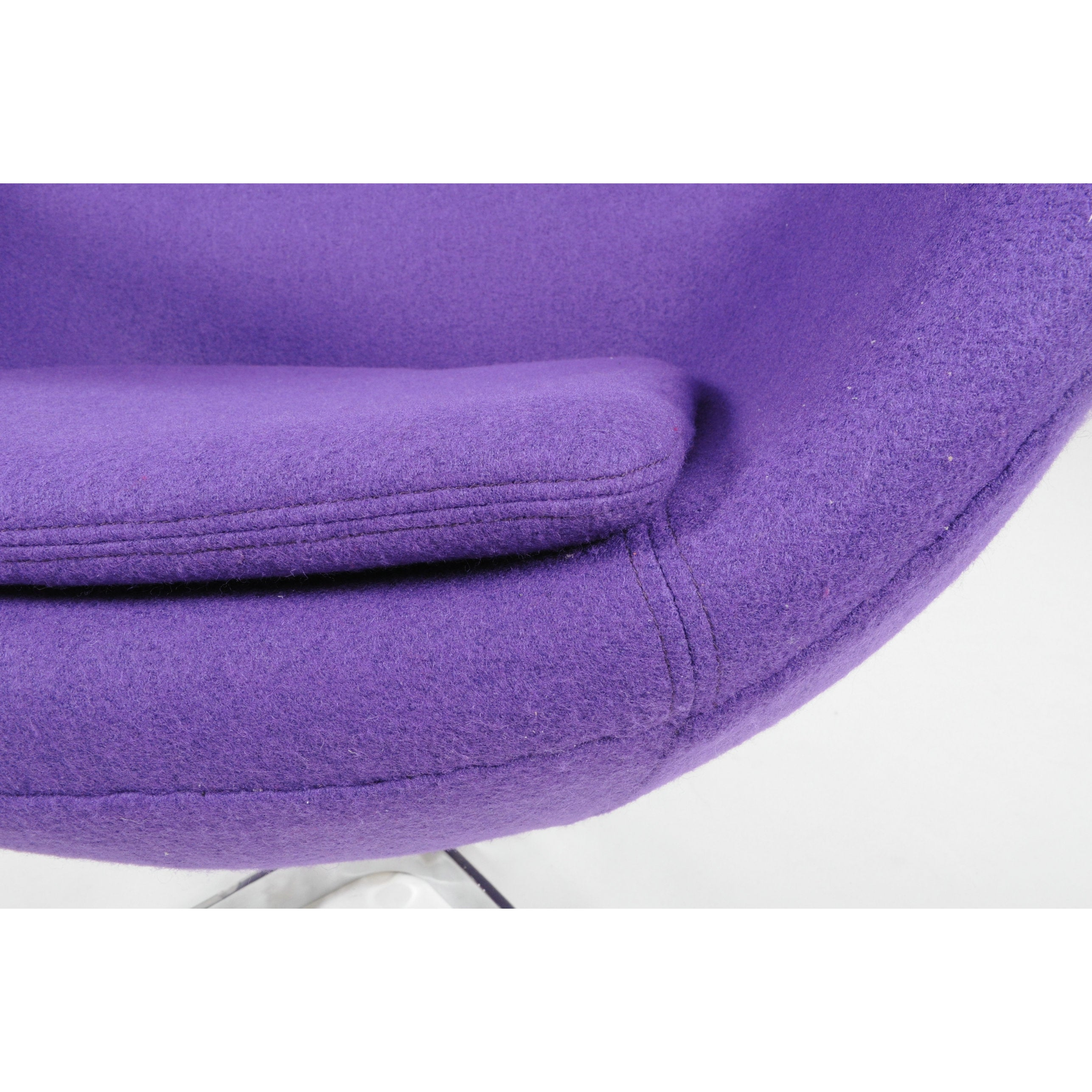 MLF Mid Century Modern Purple Wool Egg Chair   Free Shipping Today    Overstock.com   20473768