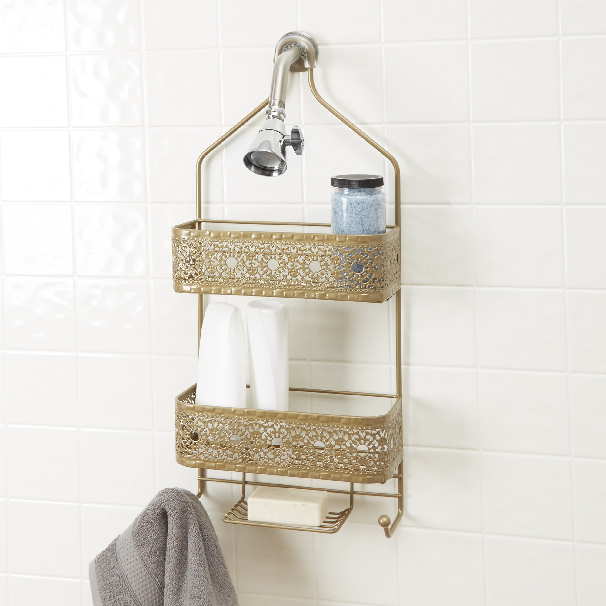 Shop Filigree Bathroom Collection 2-Shelf Shower Caddy with Soap ...