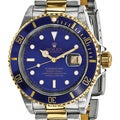 Certified Pre-Owned Rolex Men's Steel and 18 Karat Yellow Gold Submariner Blue Dial Watch