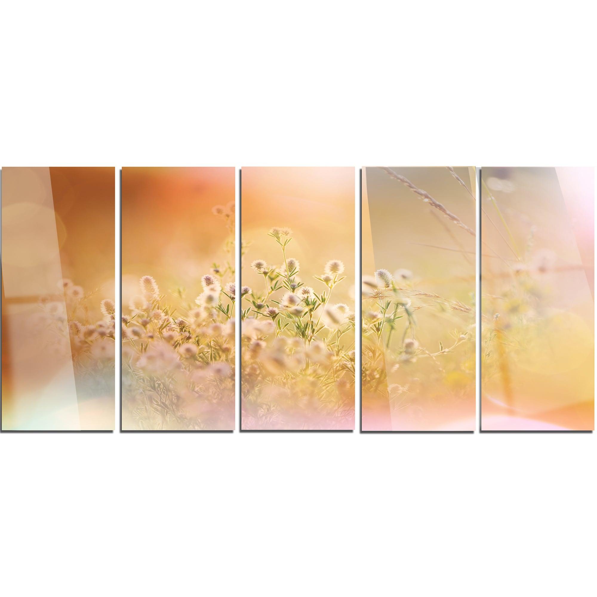 Shop Designart \'Wild Purple Flowers on Light Background\' Large ...