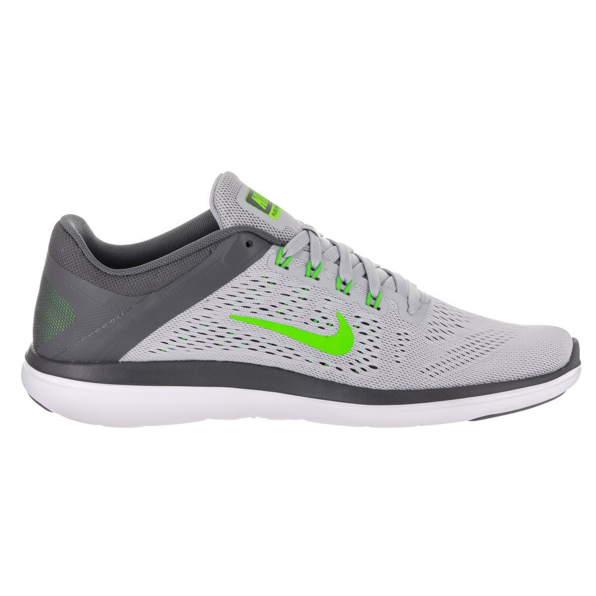 a95671fb125947 Shop Nike Men s Flex Run 2016 Wolf Grey Synthetic Leather Running Shoes -  Free Shipping Today - Overstock.com - 13831147