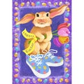 Sneaker Bunny Multicolor Synthetic Fiber Wall Art