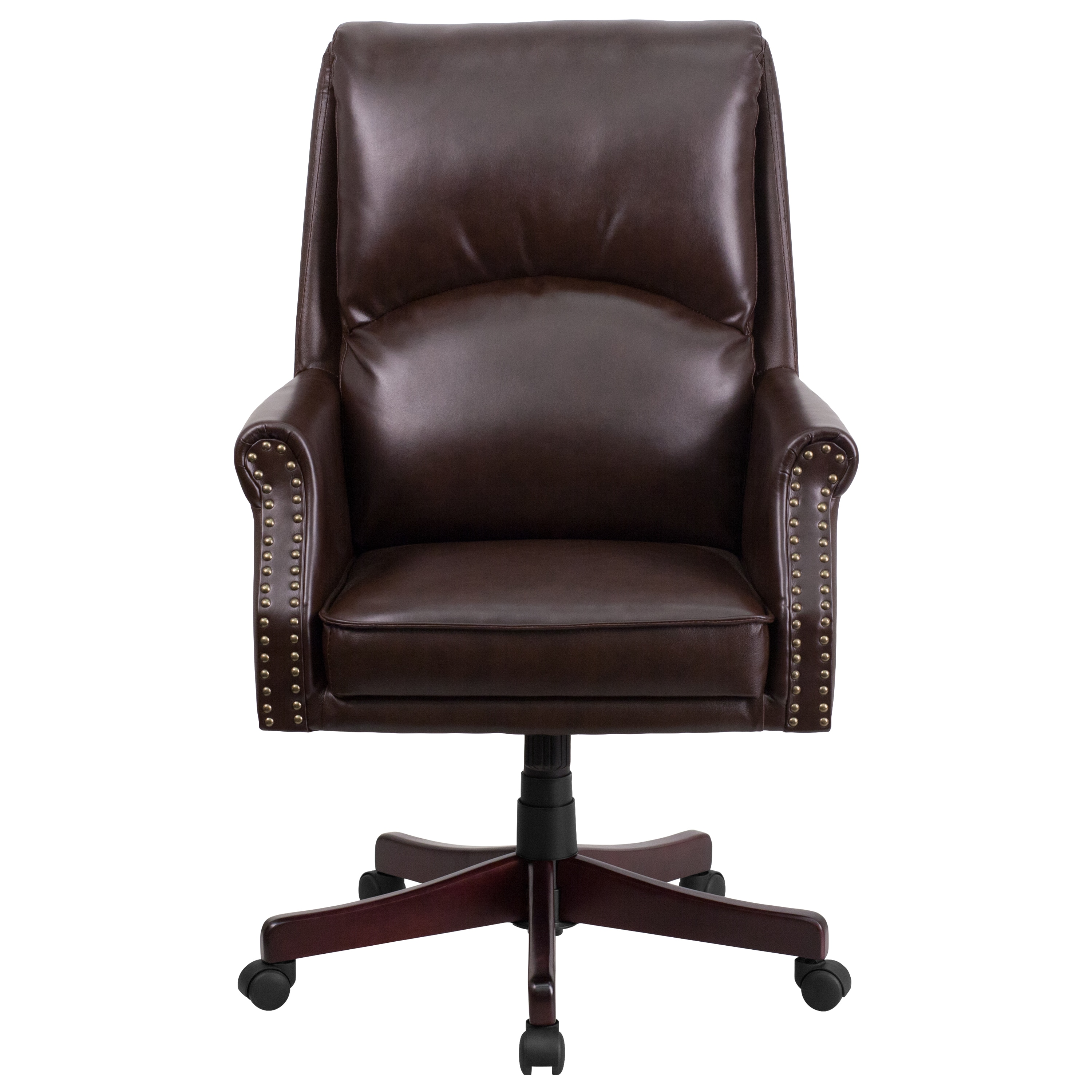 Clifton Brown Leather Executive Adjule Swivel Office Chair On Free Shipping Today 13832185