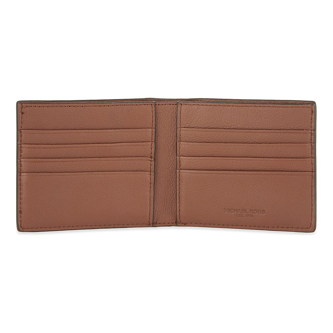 692e6f98eb2f3a Shop Michael Kors Men's Bryant Luggage Brown Leather Billfold/Wallet - Free  Shipping Today - Overstock - 13839505