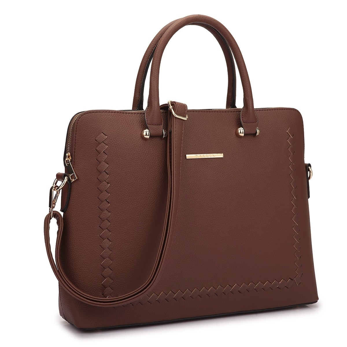 6a80caa3945a Dasein Front Stitching Women's Shoulder Briefcase