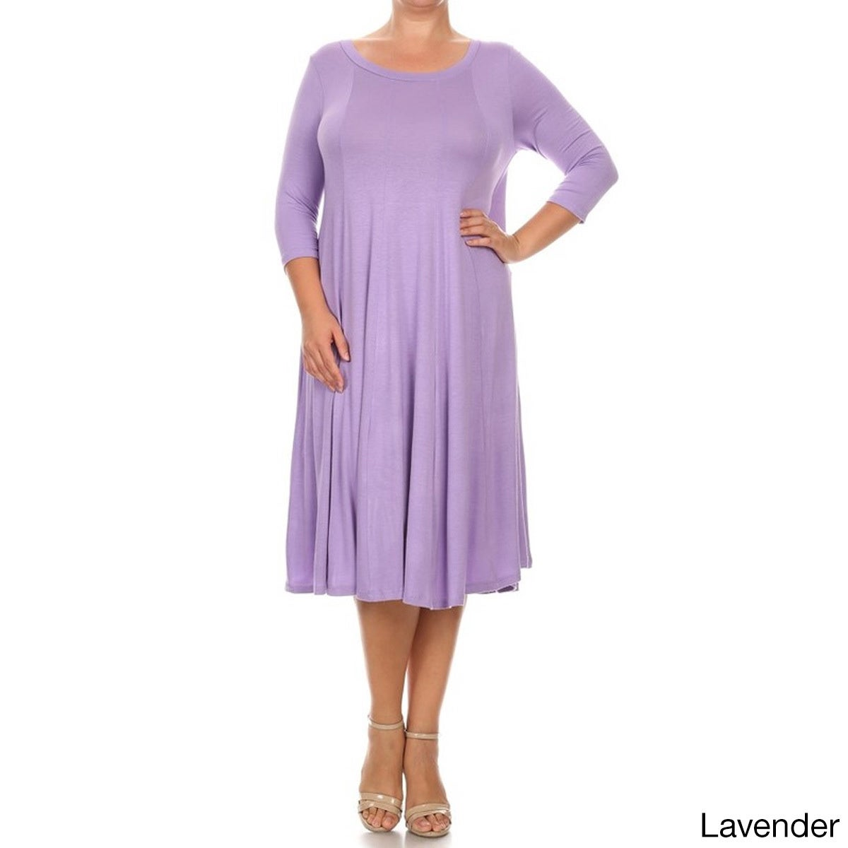 Shop Women\'s Solid-color Plus-size Dress - On Sale - Free Shipping ...