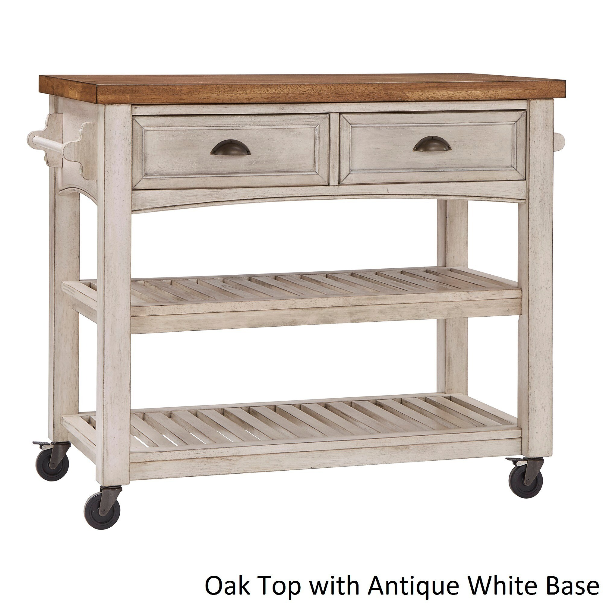 Eleanor Two-Tone Rolling Kitchen Island by iNSPIRE Q Classic - Free ...