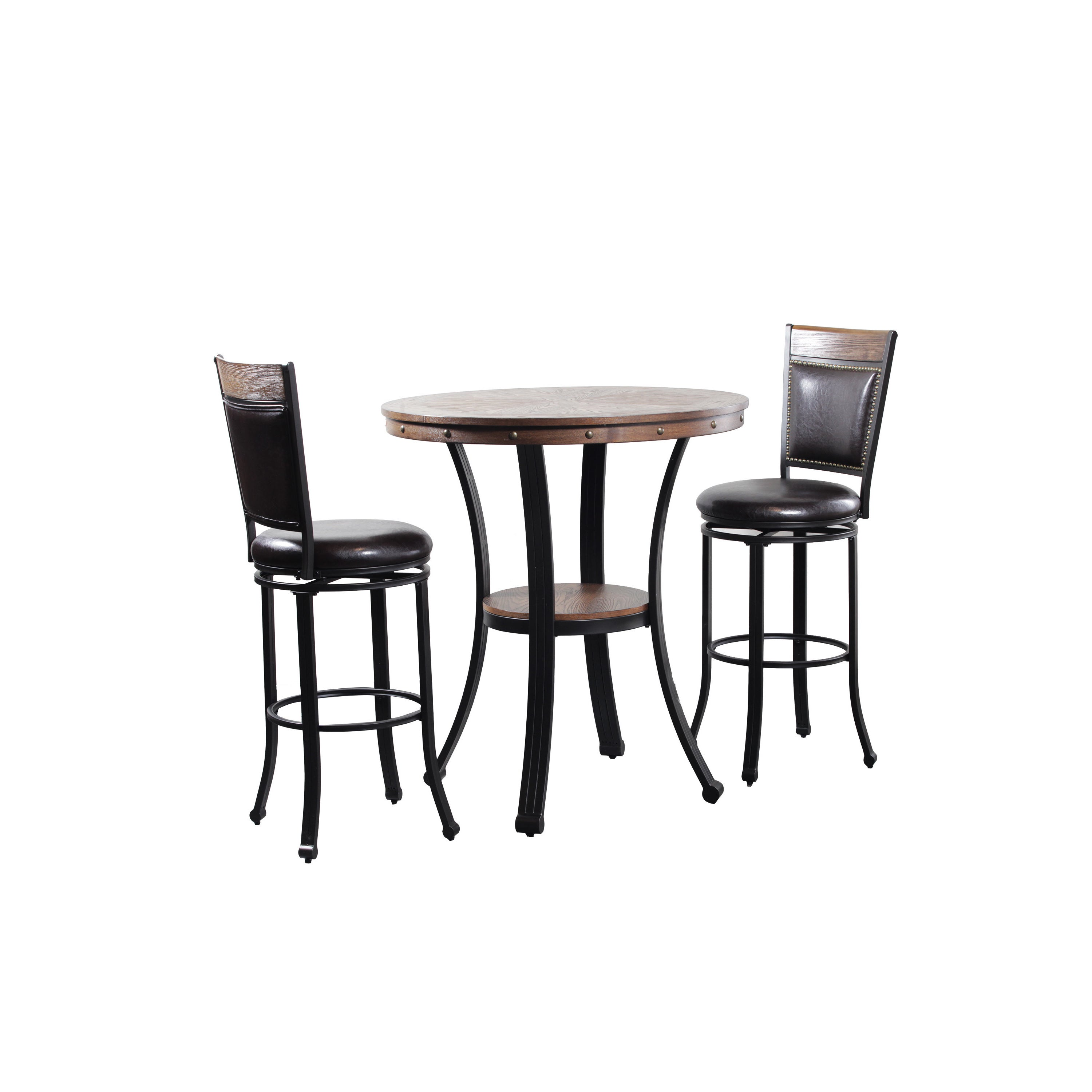 Franklin Pub Table And 2 Bar Stools Set Free Shipping Today 13840598