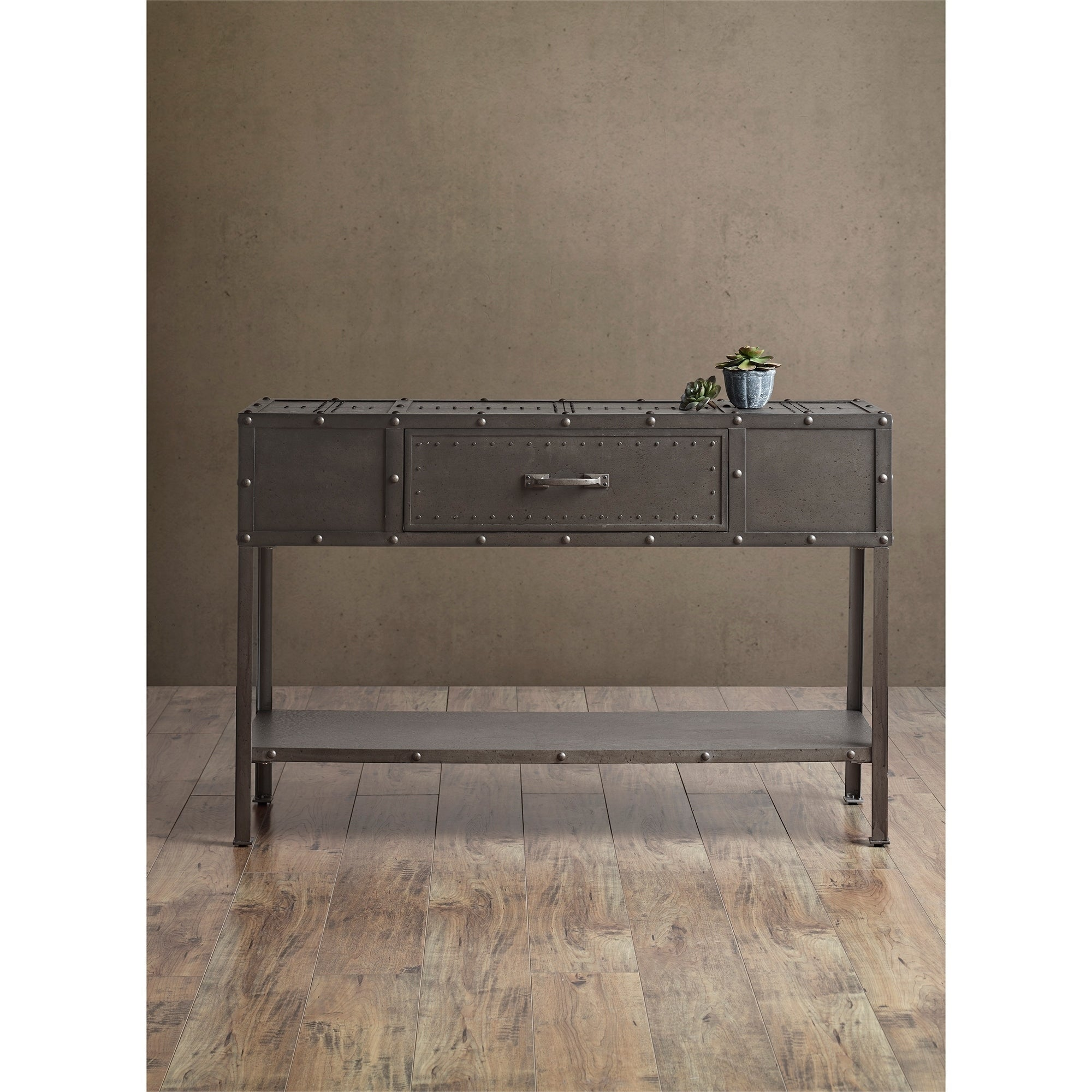 Shop INK IVY Benicia Industrial Grey Console Table   Free Shipping Today    Overstock.com   13842148