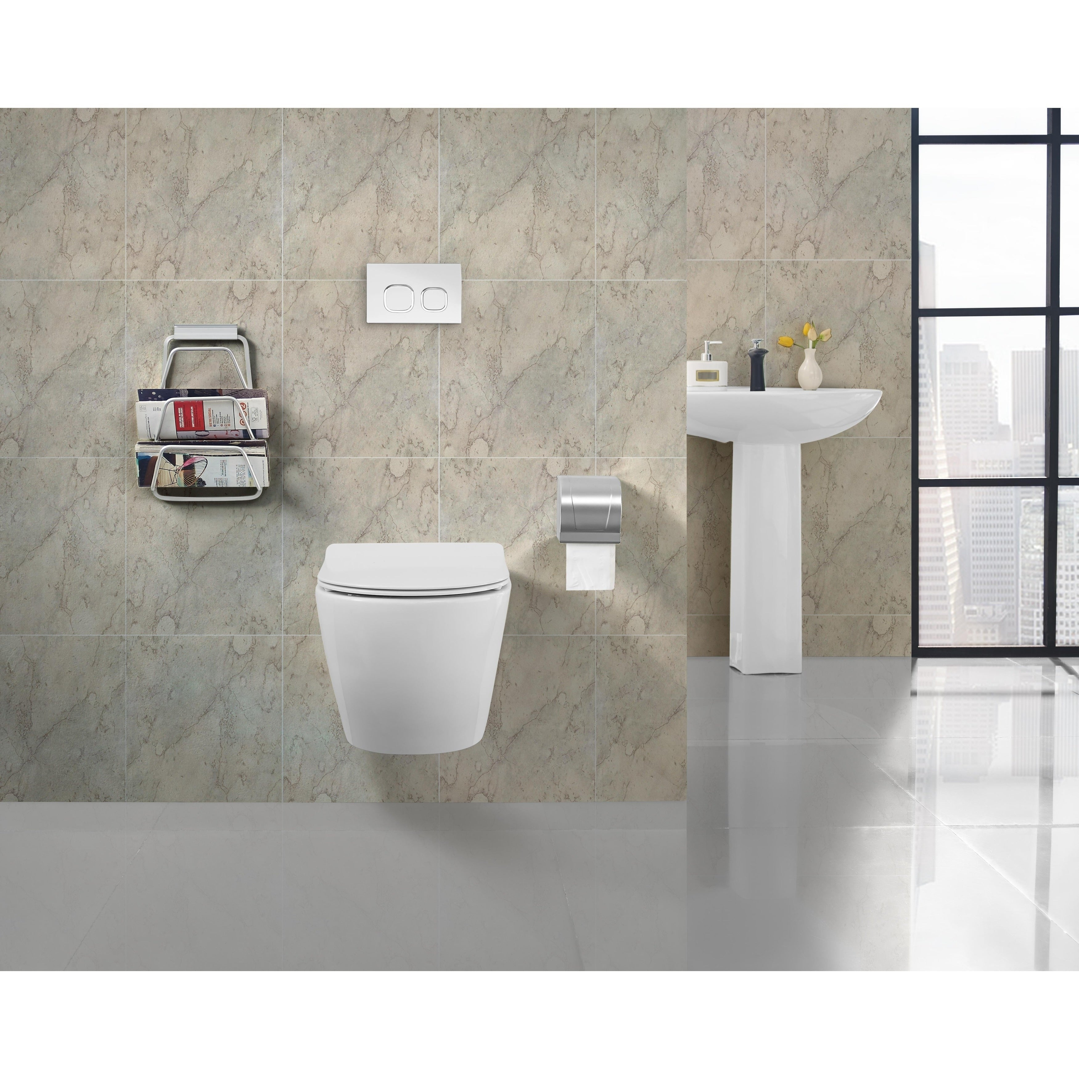 Shop Swiss Madison Sublime Wall Hung Toilet Bowl, White - Free ...