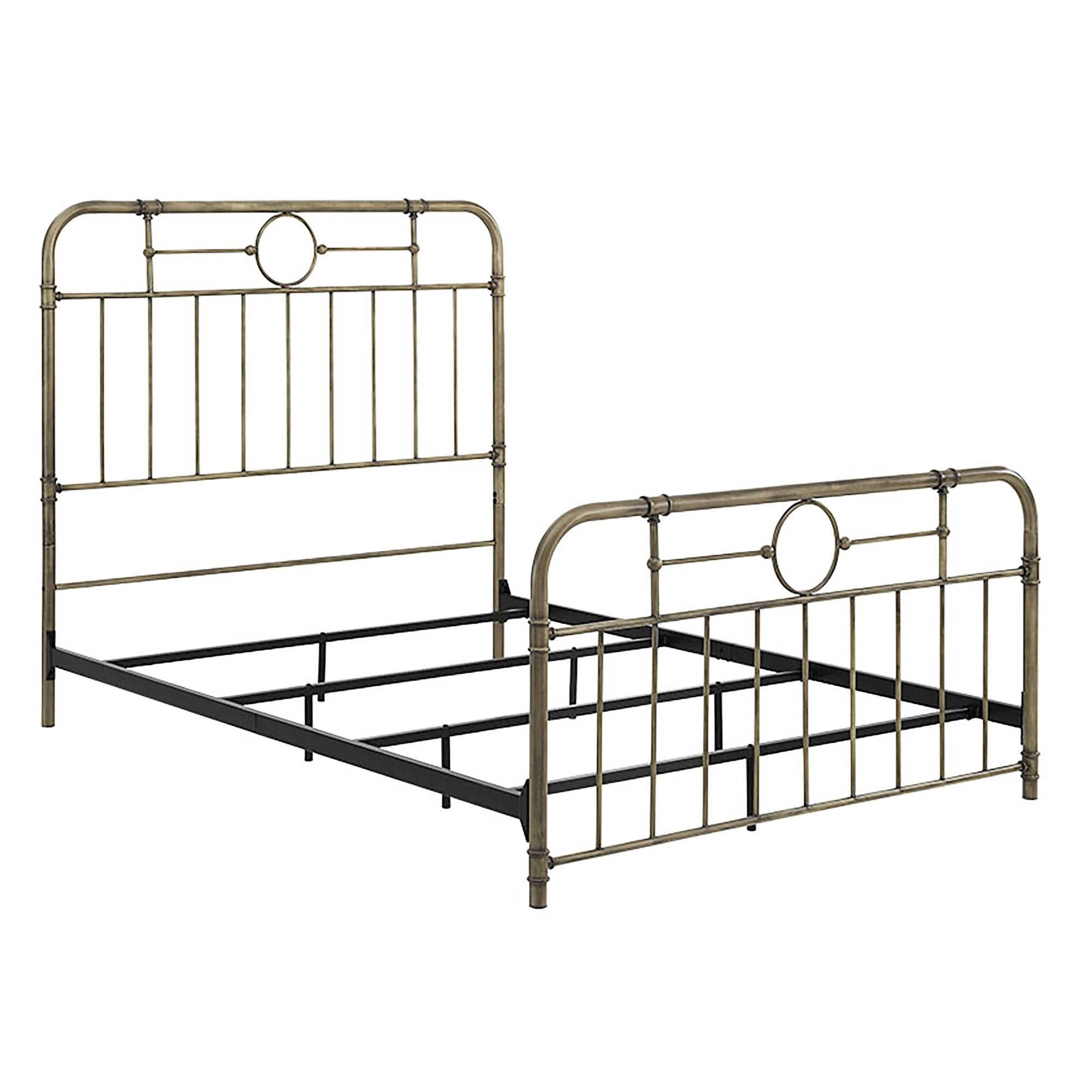 Shop Bronze Metal Pipe Queen Bed 63 X 85 X 56h Free Shipping