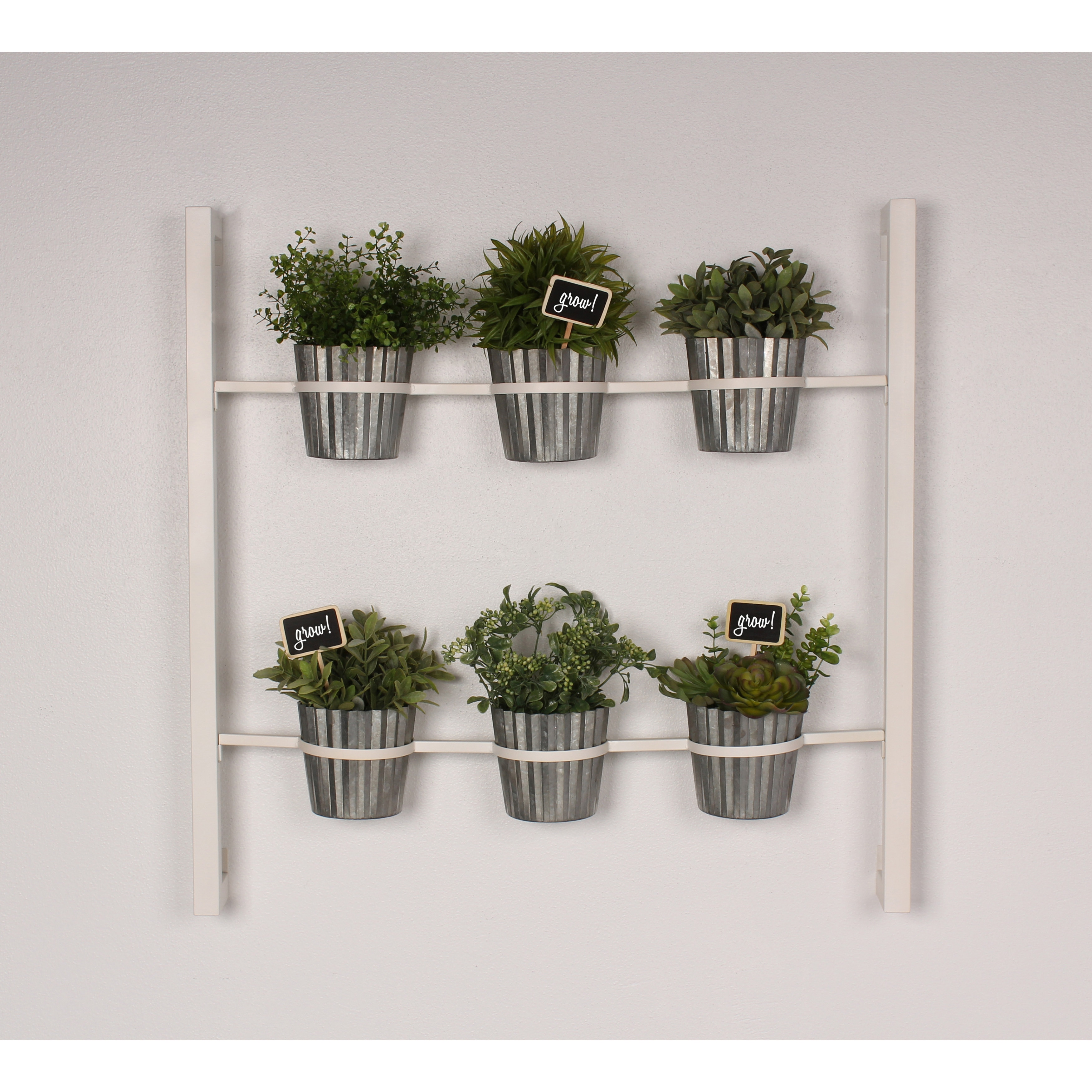 Shop Kate And Laurel Groves Indoor Herb Garden Black Metal Hanging Wall  Planter   On Sale   Free Shipping Today   Overstock.com   13846985
