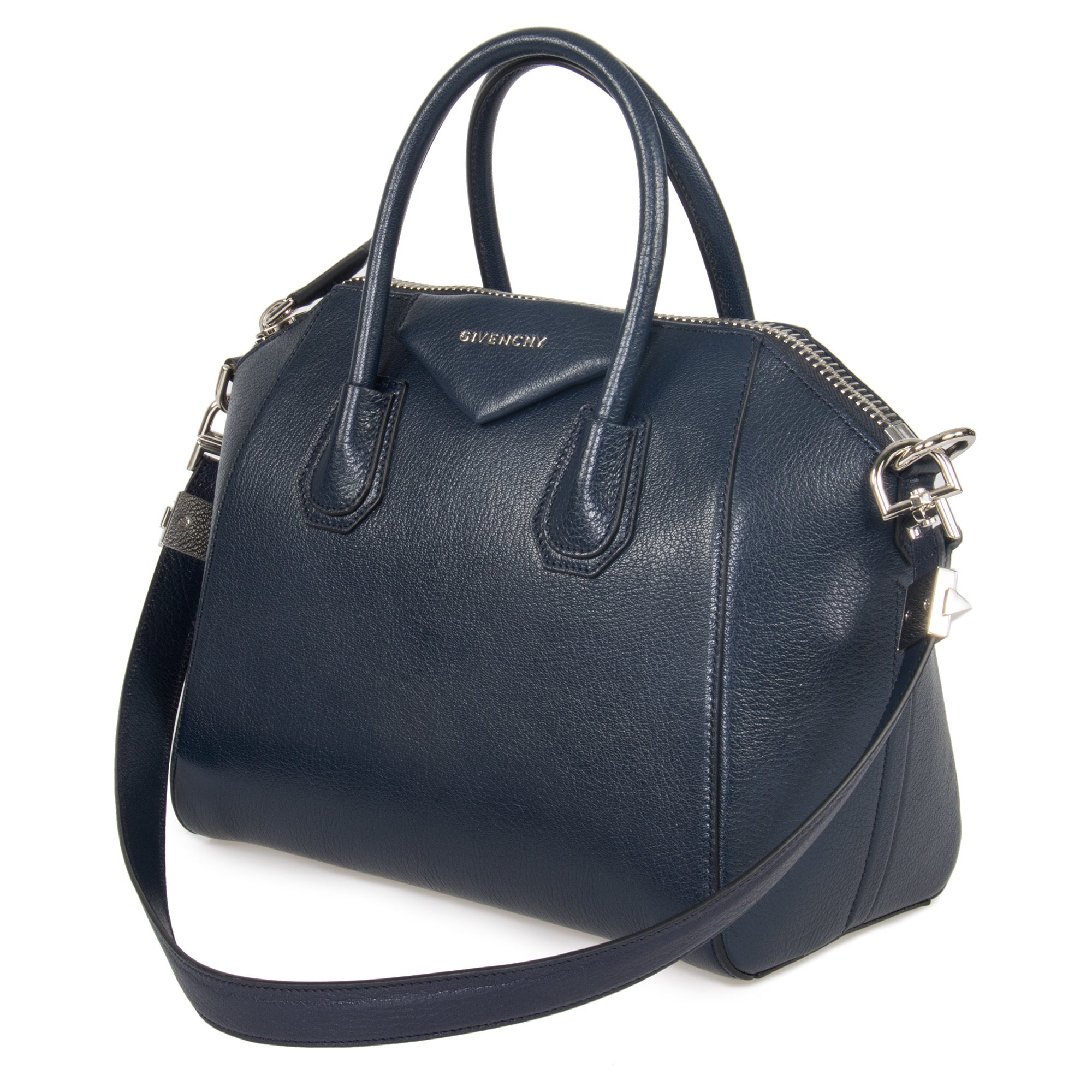Shop Givenchy Antigona Small Matte Night Blue Leather Tote Bag - Ships To  Canada - Overstock.ca - 13848680 f9f658e37583a