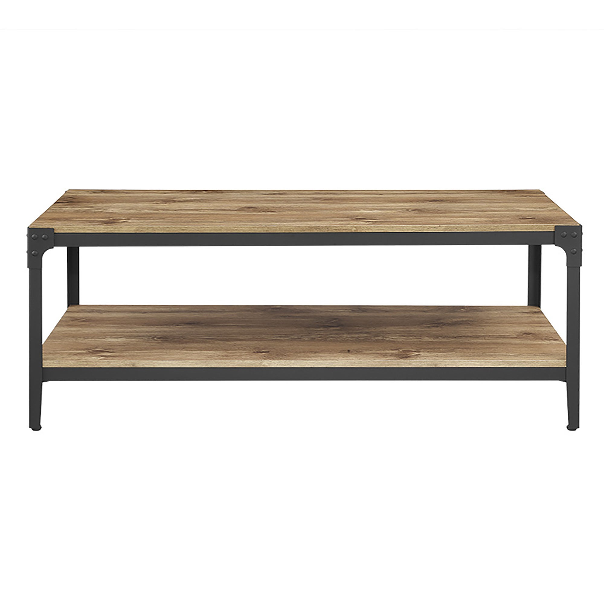 48 inch Rustic Barnwood Angle Iron Coffee Table Free Shipping