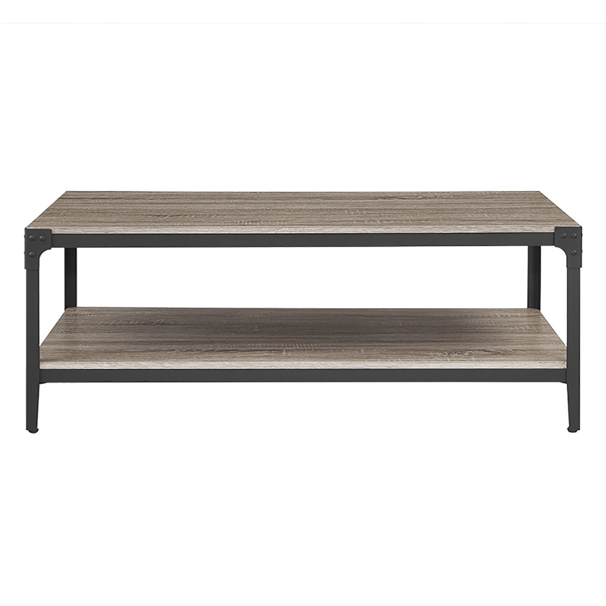 48 inch Rustic Angle Iron Coffee Table Driftwood Free Shipping
