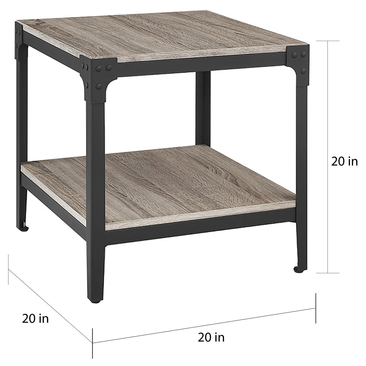 Rustic Angle Iron Driftwood End Tables (Set of 2) - Free Shipping ... for Driftwood Outdoor Furniture  284dqh