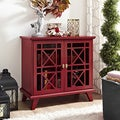 32-inch Fretwork Red Entryway Console