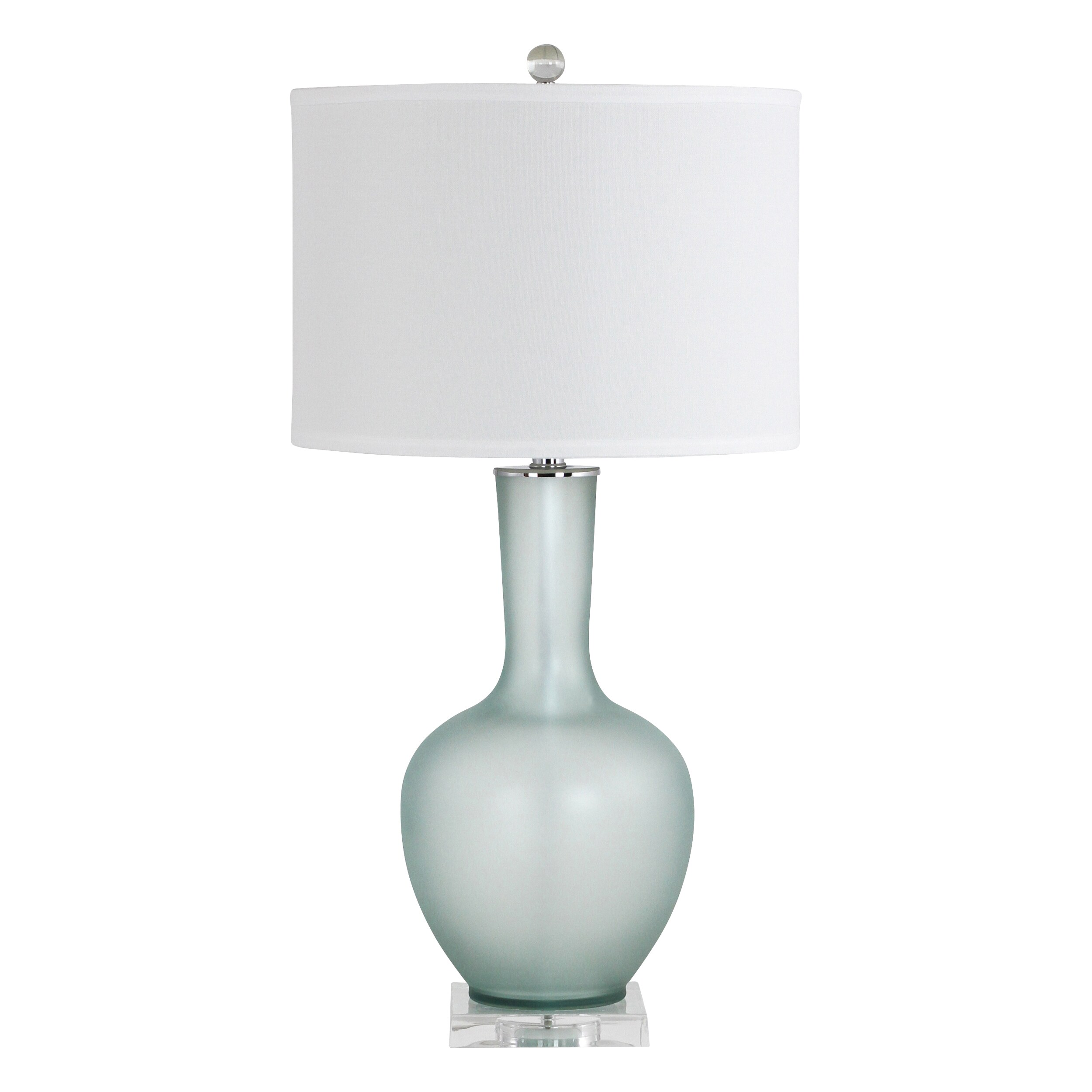 Shop Makea Green Frosted Glass Table Lamp Free Shipping Today