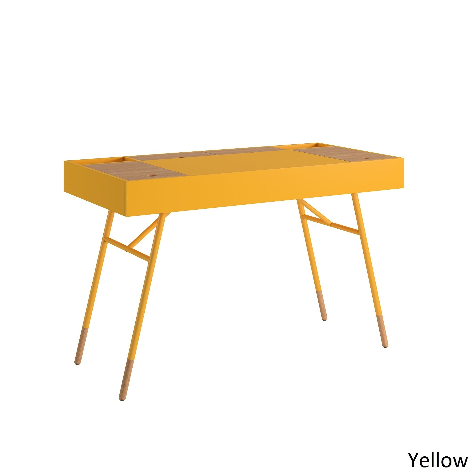 mid century top product chairish rosewood yellow steelcase desk