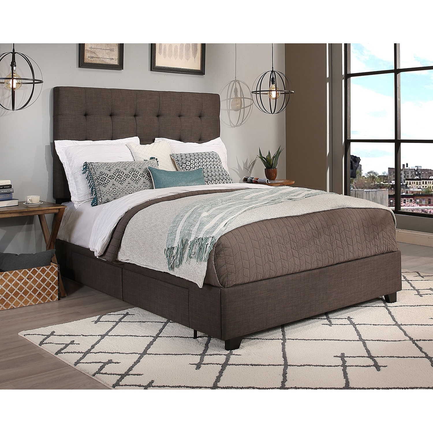 velvet full connie garden product grey shipping tufted queen free overstock headboard abbyson today home