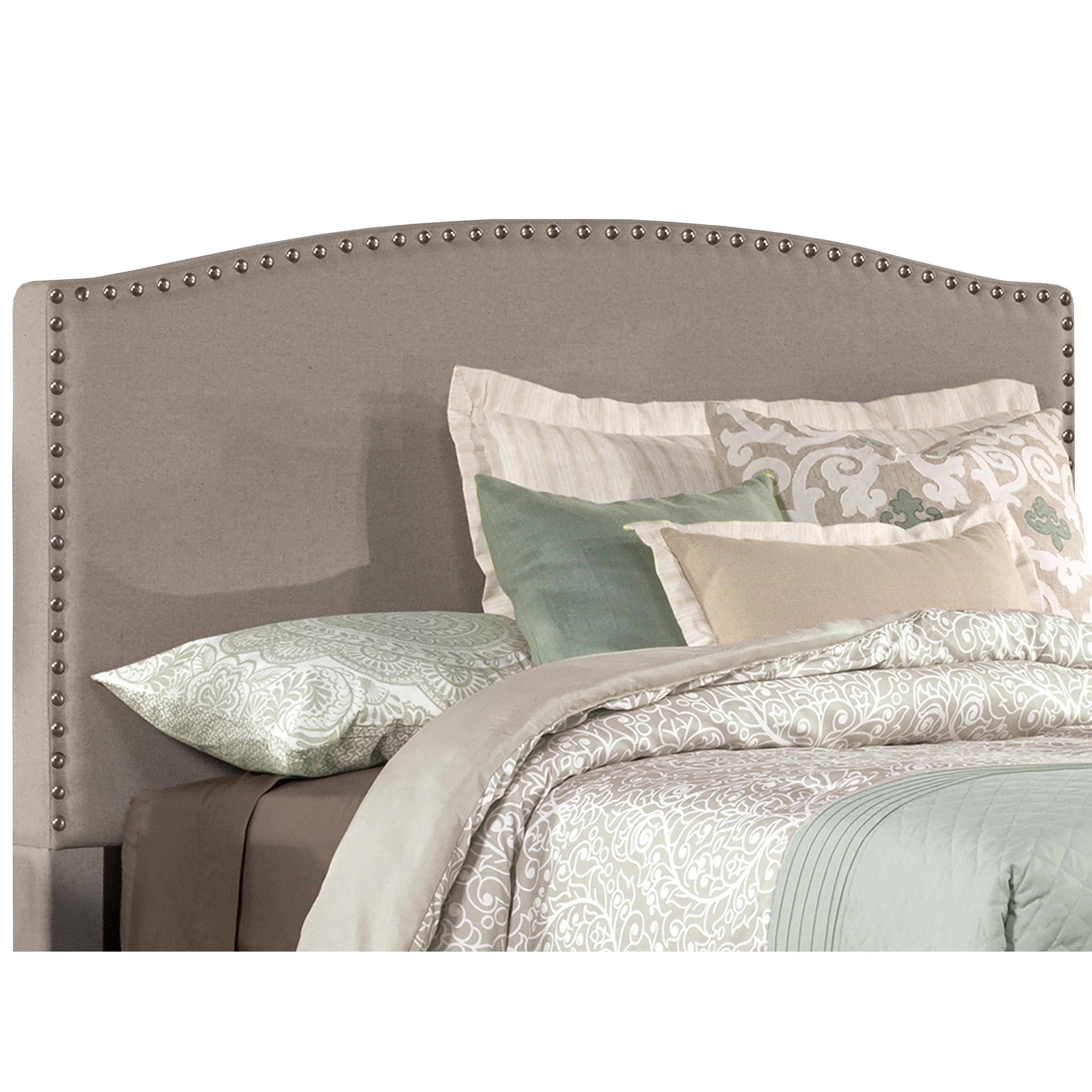 Shop Hillsdale Furniture Kerstien Dove Grey Fabric Headboard With Frame