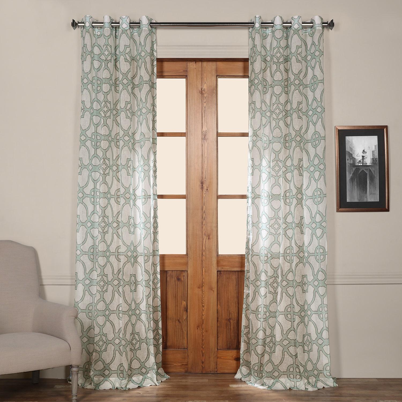 window curtains floral lace trellis l default curtain top sheer pair veil grommet blackout