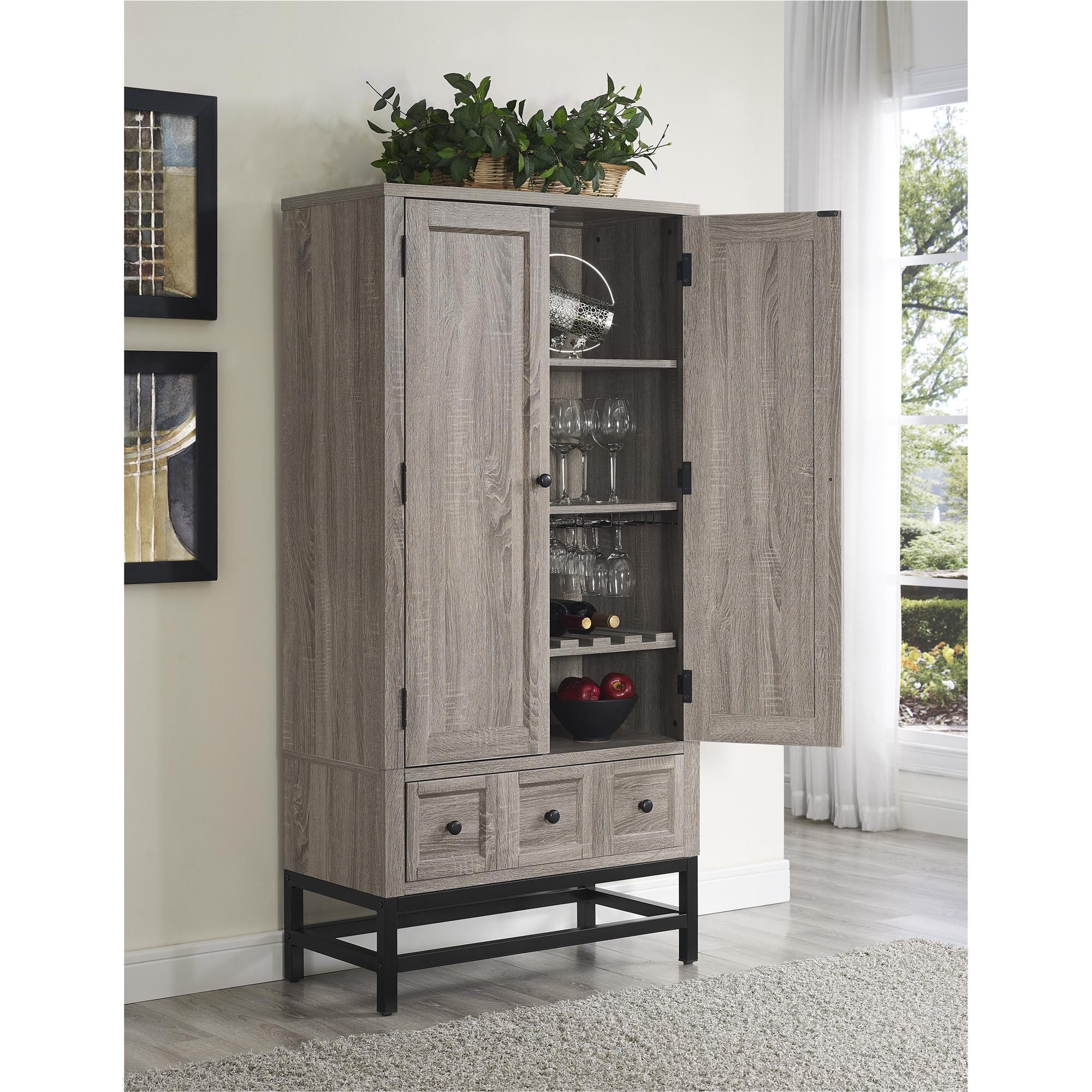 Shop The Gray Barn Latigo Sonoma Oak Beverage Cabinet - Free ...