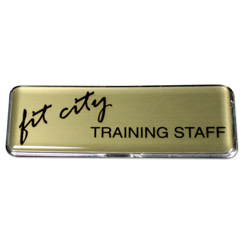 The Mighty Badge Name Badge Bulk Kit Gold Badges 50 Units