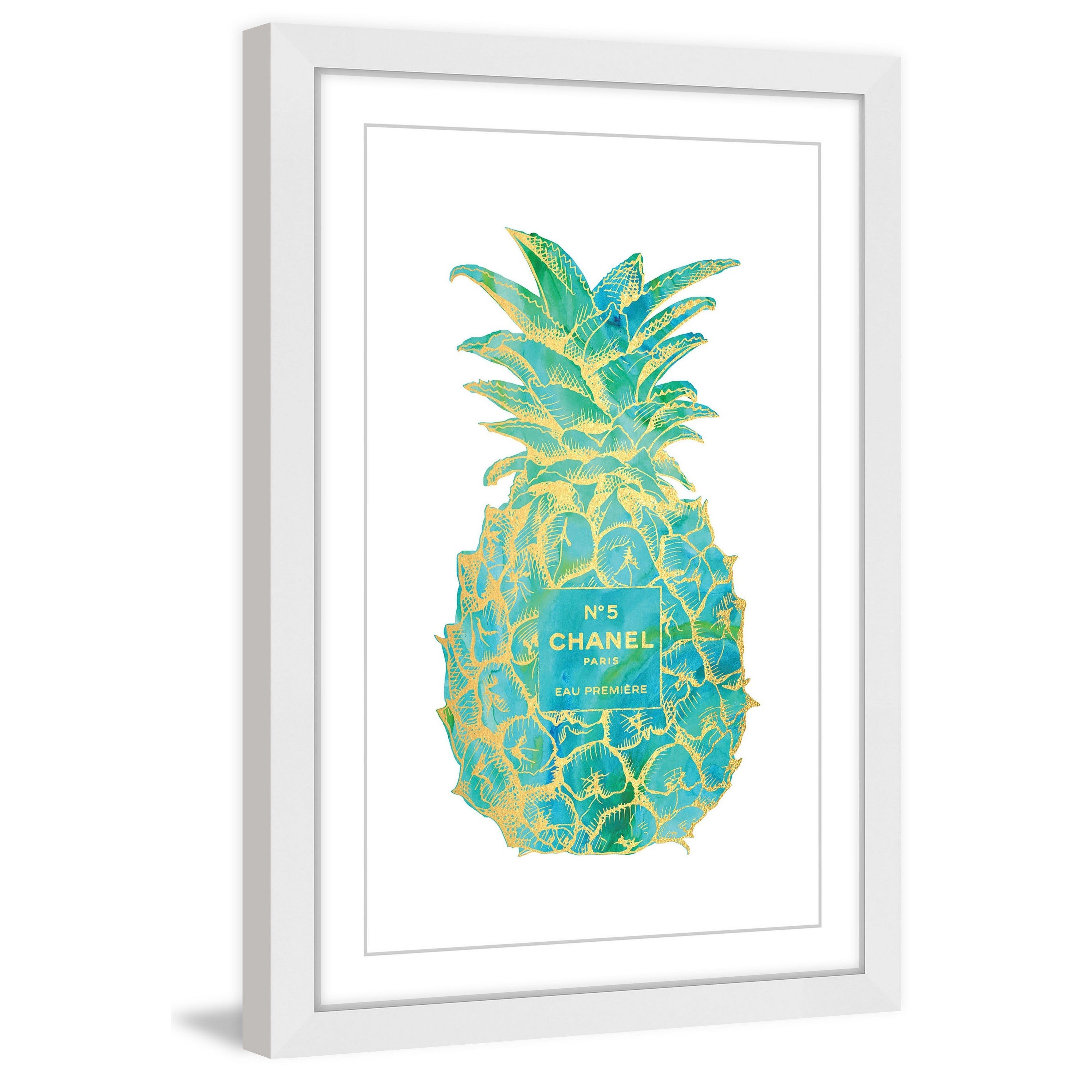Shop Marmont Hill - \'Pineapple Trop Gold\' by Amanda Greenwood Framed ...