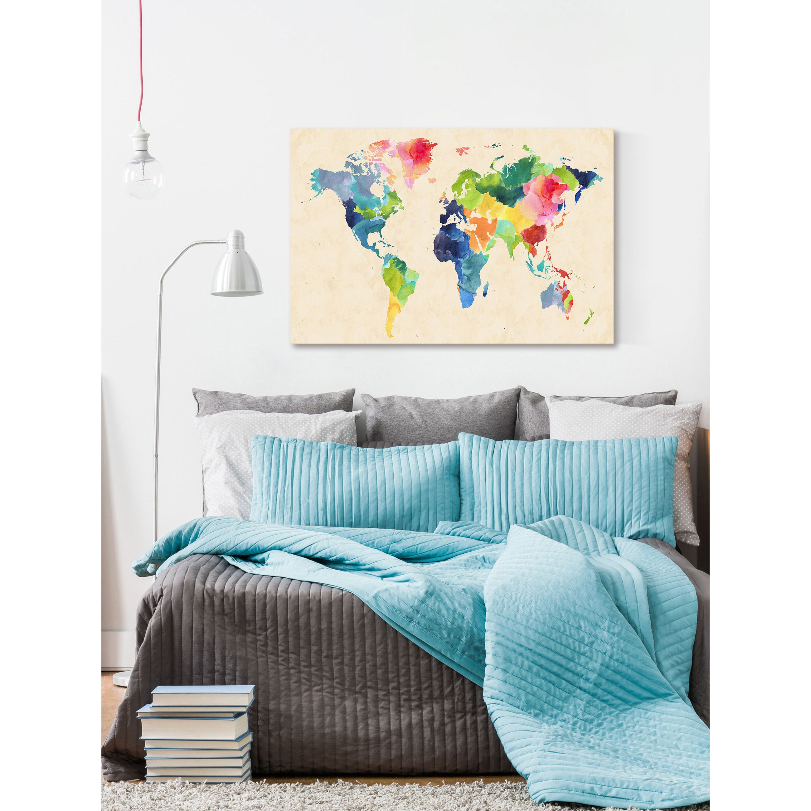 Kelebihan Zidane Sticker Border Wall Border Motif List Dinding. Source · Shop Marmont Hill - 'Watercolor Map Bold' by Keren Toledano Painting Print on ...