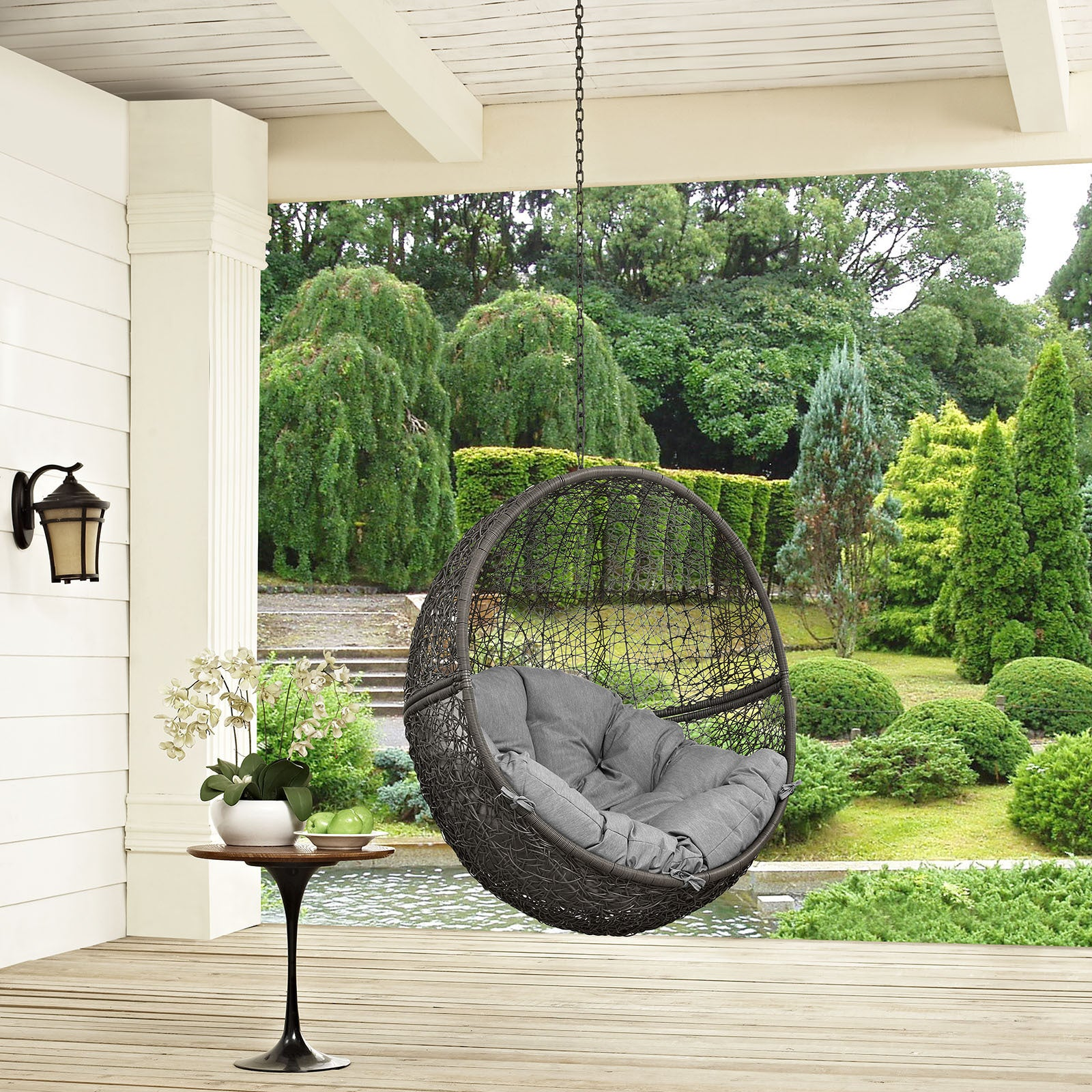 outdoor vineyard porch plastic p swing polywood in swings white