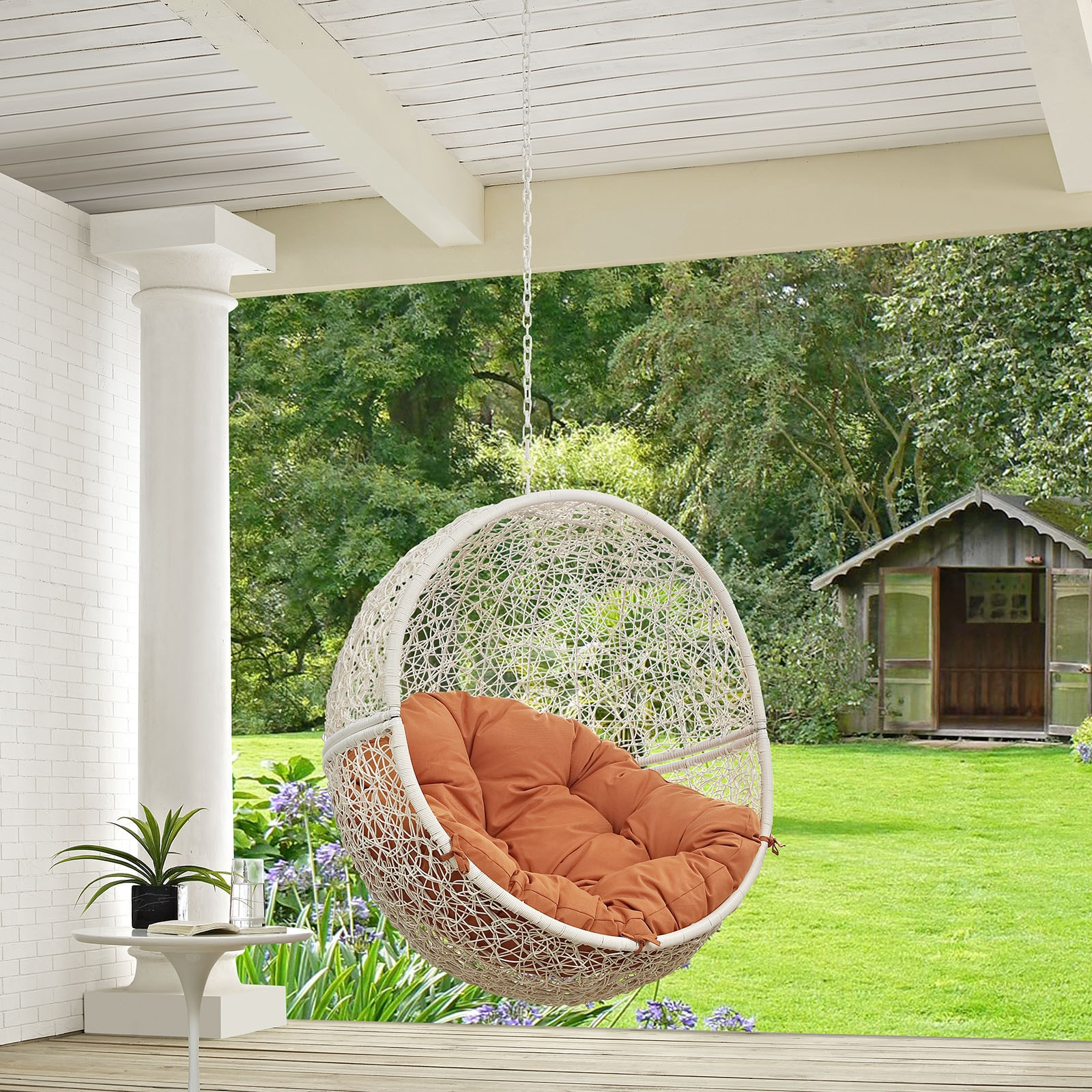 Hide Outdoor Patio Swing Chair Free Shipping Today Overstock