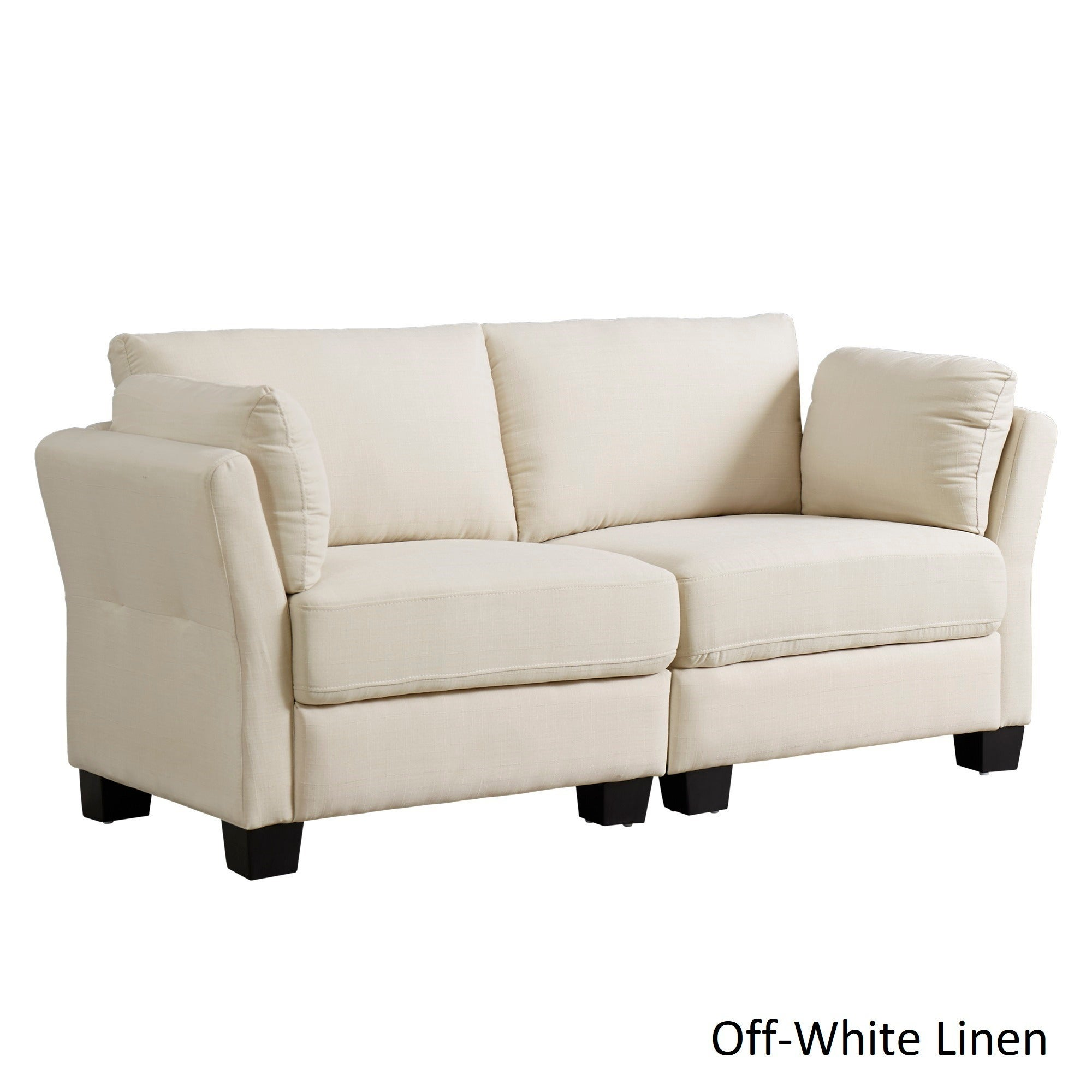 Elize Modern Linen Fabric Loveseat By INSPIRE Q Bold   Free Shipping Today    Overstock   20522671